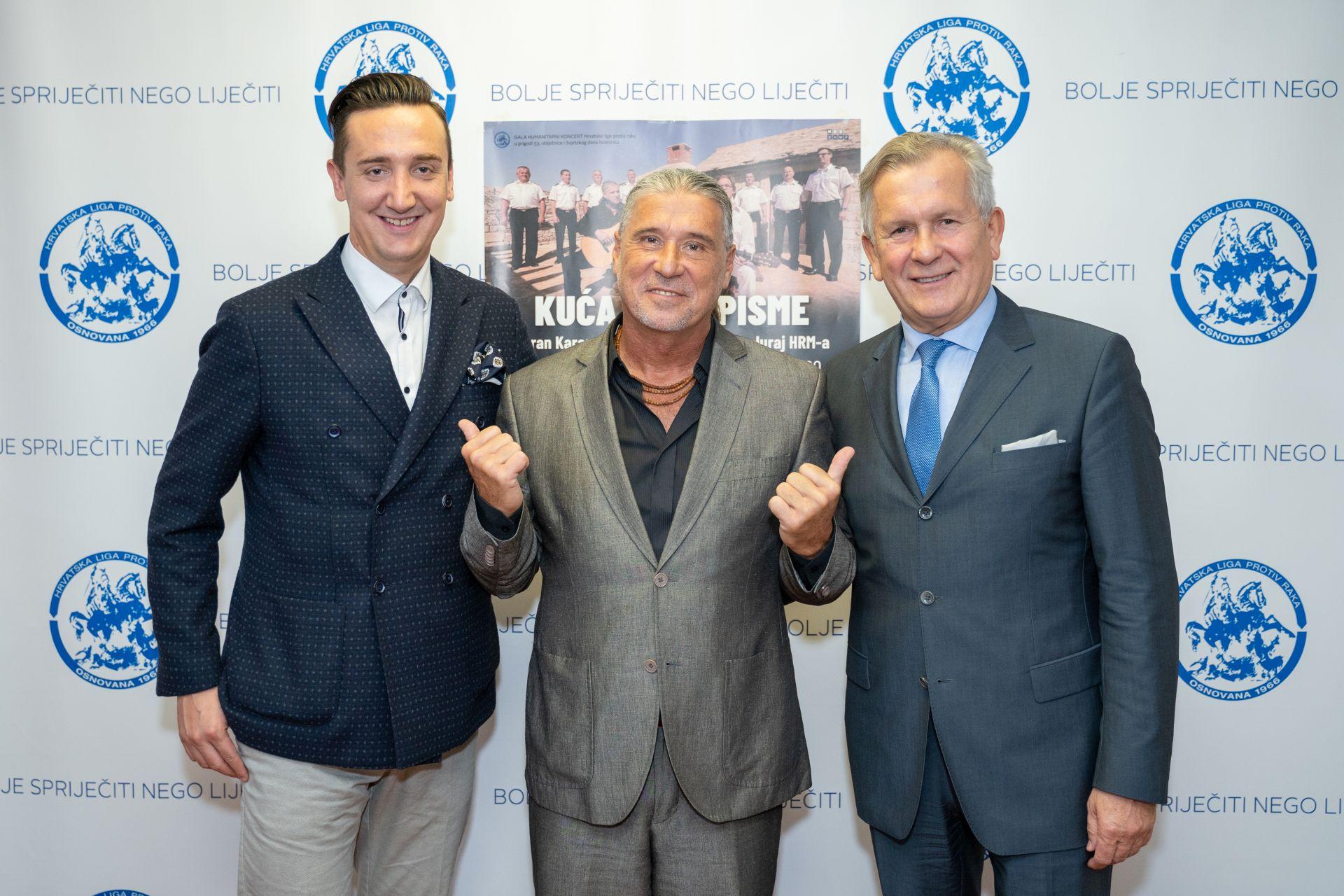 Vidimo se u Lisinskom, poručili su doc. dr. sc. Tomislav Madžar, Goran Karan i predsjednik Hrvatske lige protiv raka prof. dr. sc. Damir Eljuga.