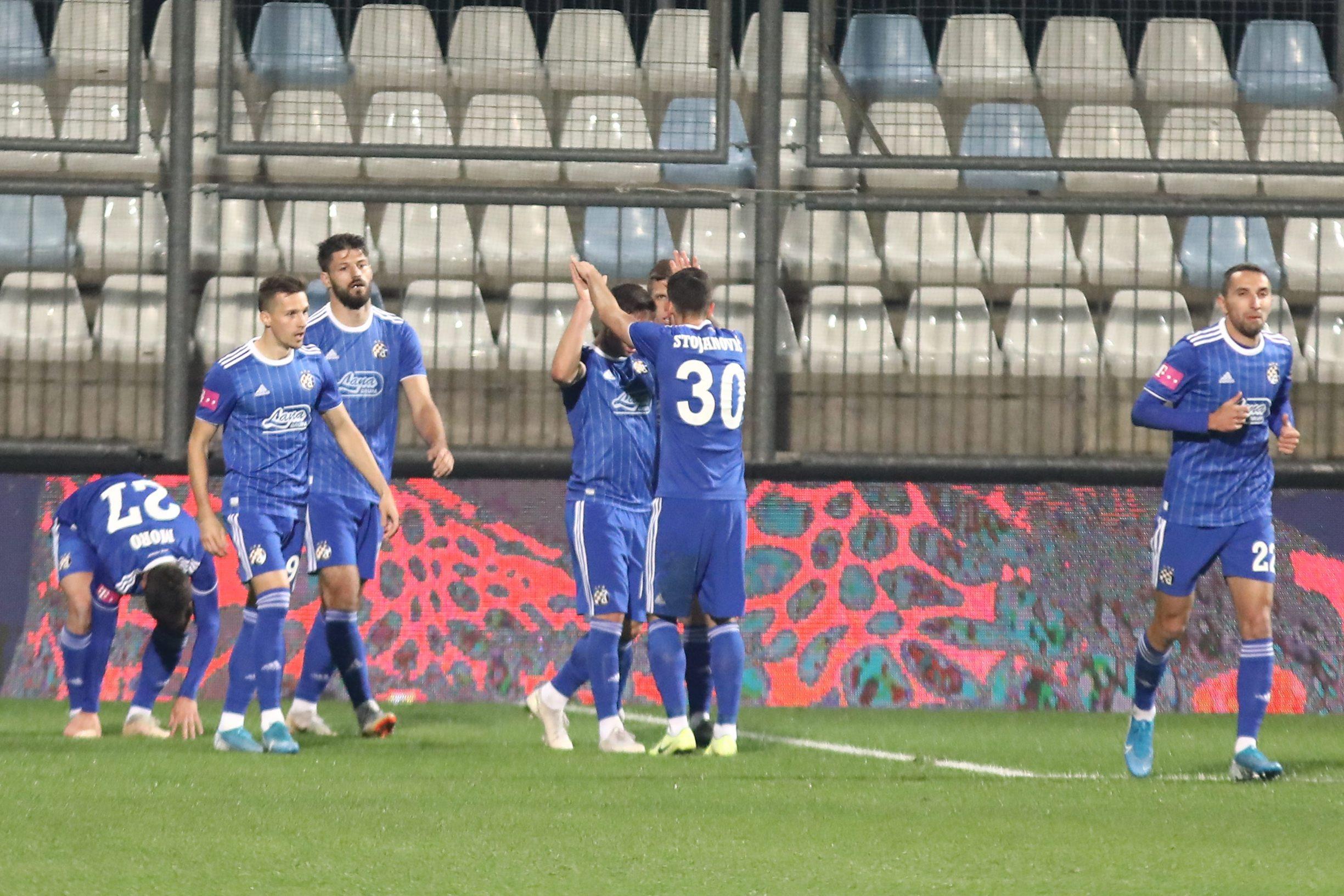 Rijeka, 101119. Stadion Rujevica. HNK Rijeka - Dinamo, 1. HT HNL, 15. kolo. Na fotografiji: slavlje. Foto: Matija Djanjesic / CROPIX