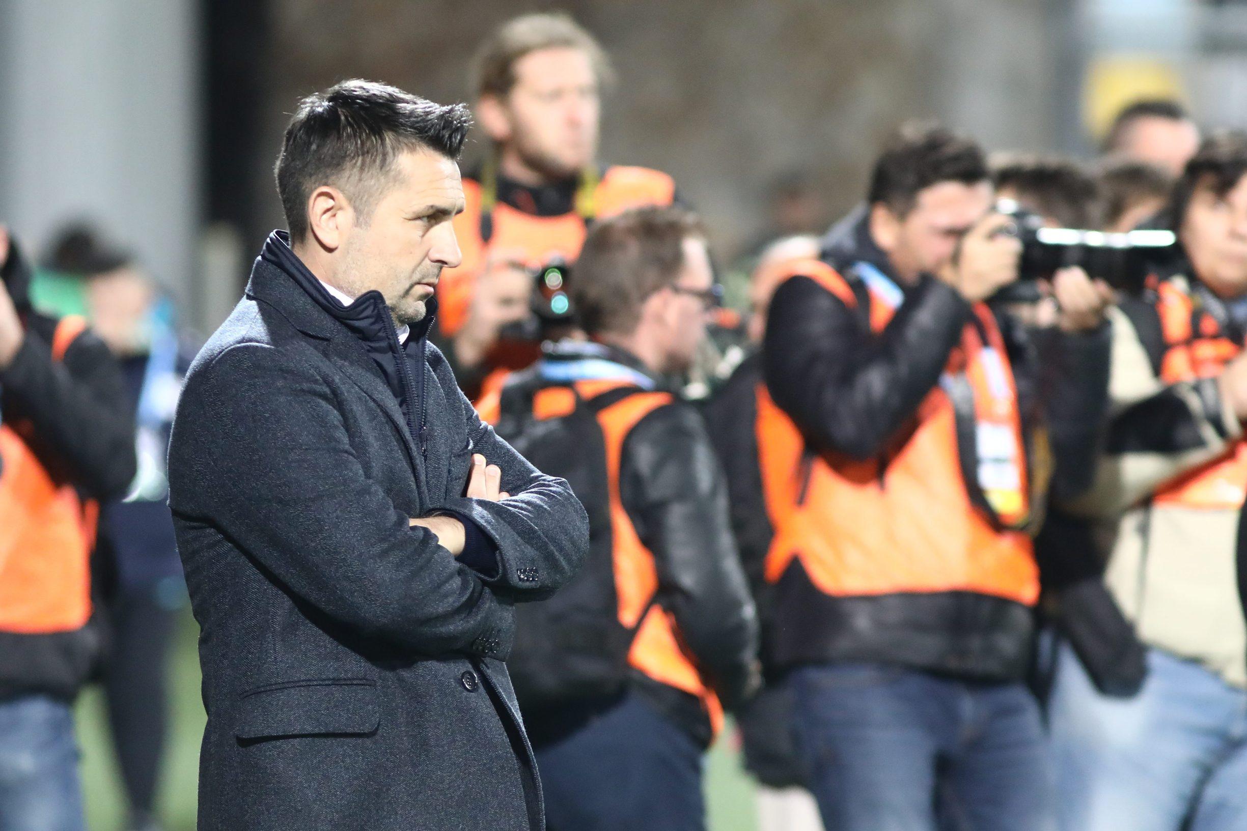 Rijeka, 101119. Stadion Rujevica. HNK Rijeka - Dinamo, 1. HT HNL, 15. kolo. Na fotografiji: Nenad Bjelica, trener. Foto: Matija Djanjesic / CROPIX