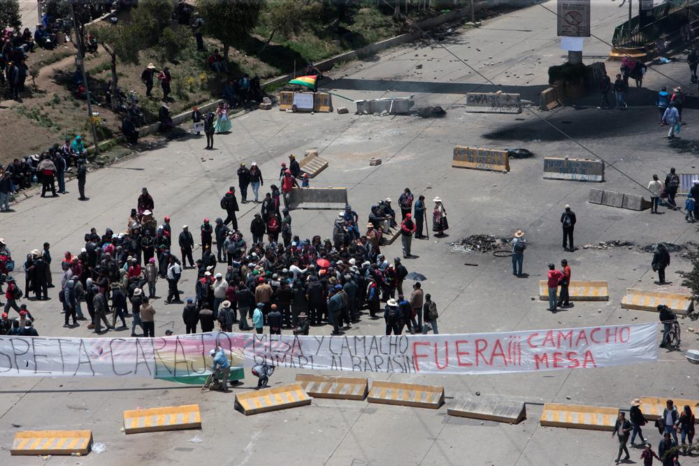 Kaos na ulicama La Paza