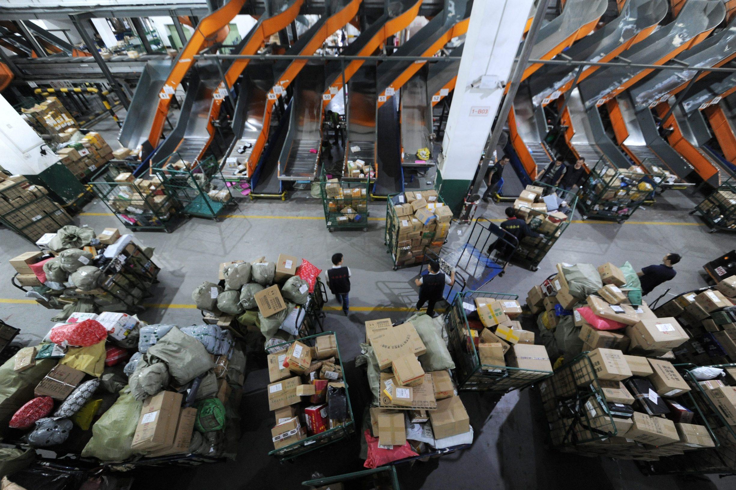 Ilustracija, trgovačko skladište uoči 'Dana samaca'