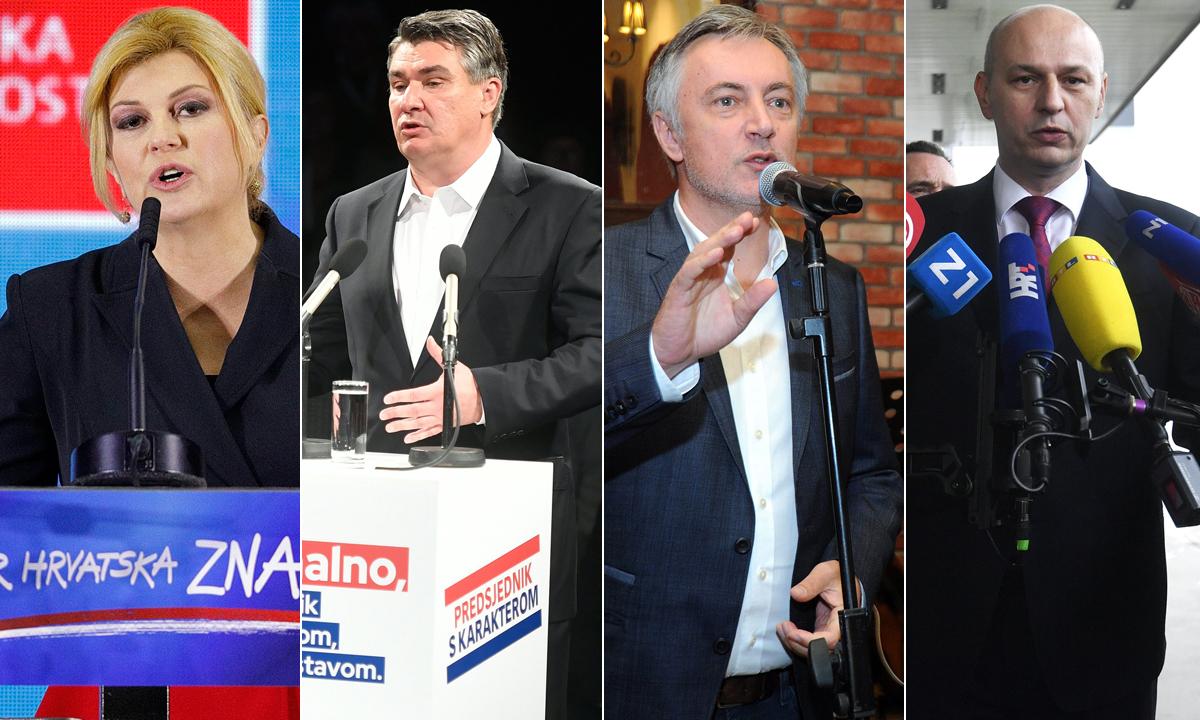 Kolinda Grabar-Kitarović, Zoran Milanović, Miroslav Škoro, Mislav Kolakušić