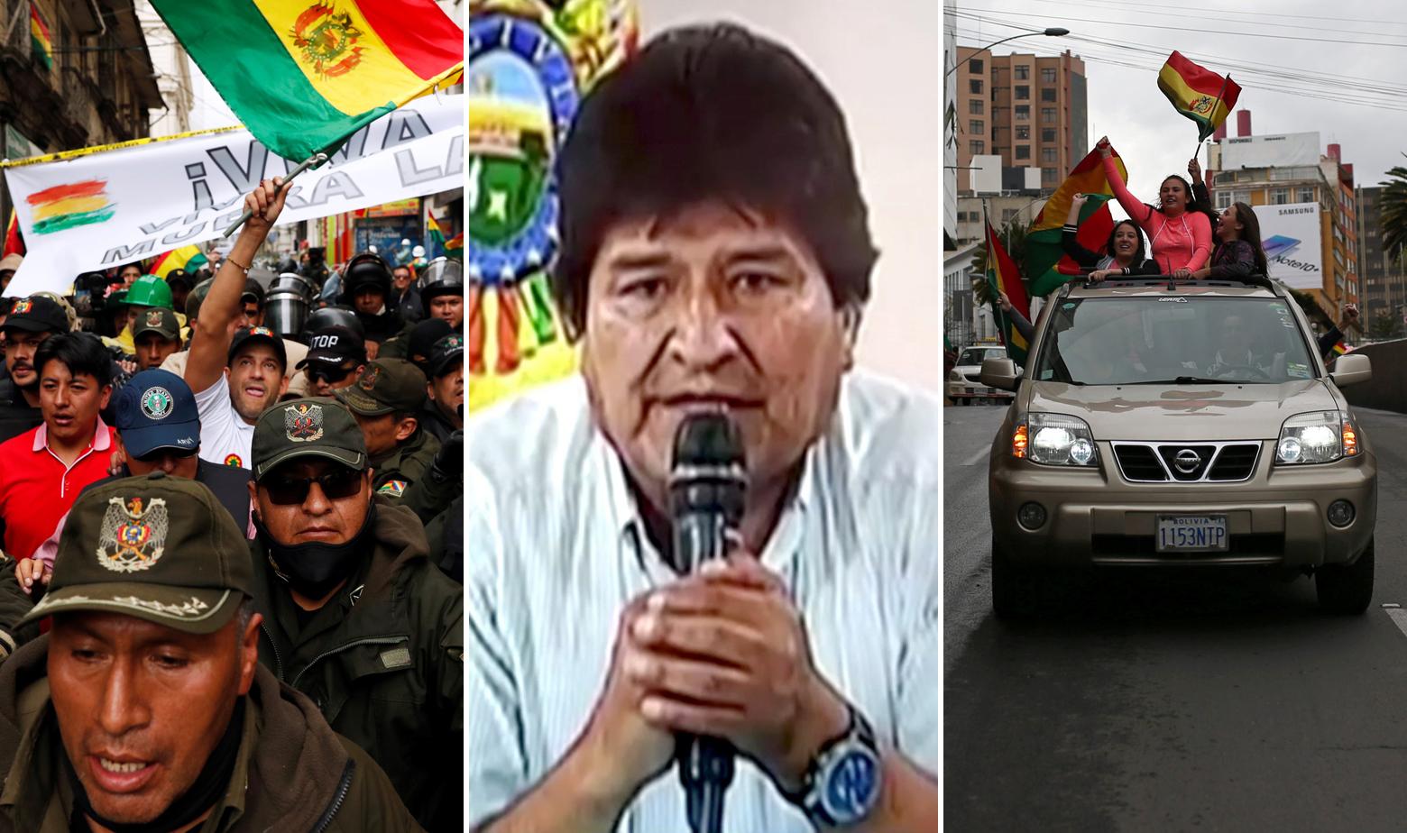 Scene iz Bolivije i Evo Morales