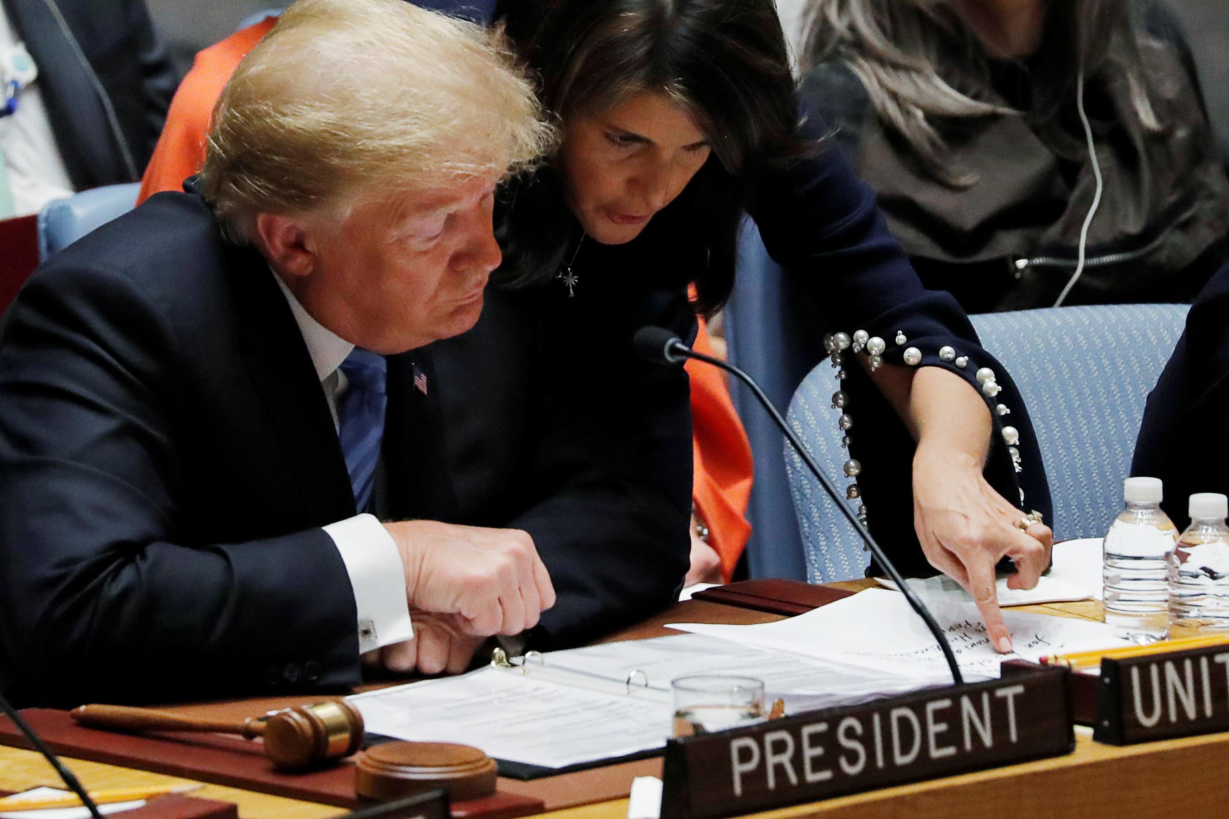 Američki predsjednik Donald Trump i bivša veleposlanica UN-a Nikky Haley