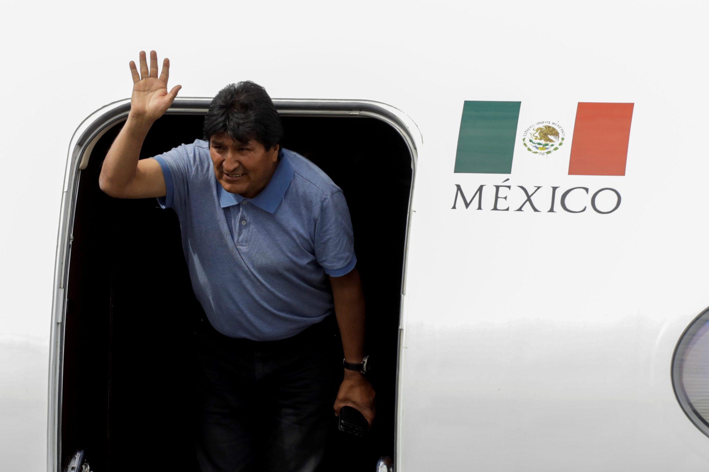 Evo Morales po dolasku u Meksiko