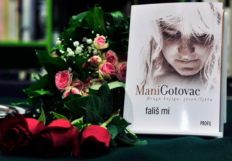 Zagreb, 201211. U knjizari Profil Megastore odrzana je promocija nove knjige Mani Gotovac pod nazivom Falis mi, to je nastavak odnosno druga autobiografska knjiga: jesen/ljeto.  Foto: Srdjan Vrancic / CROPIX