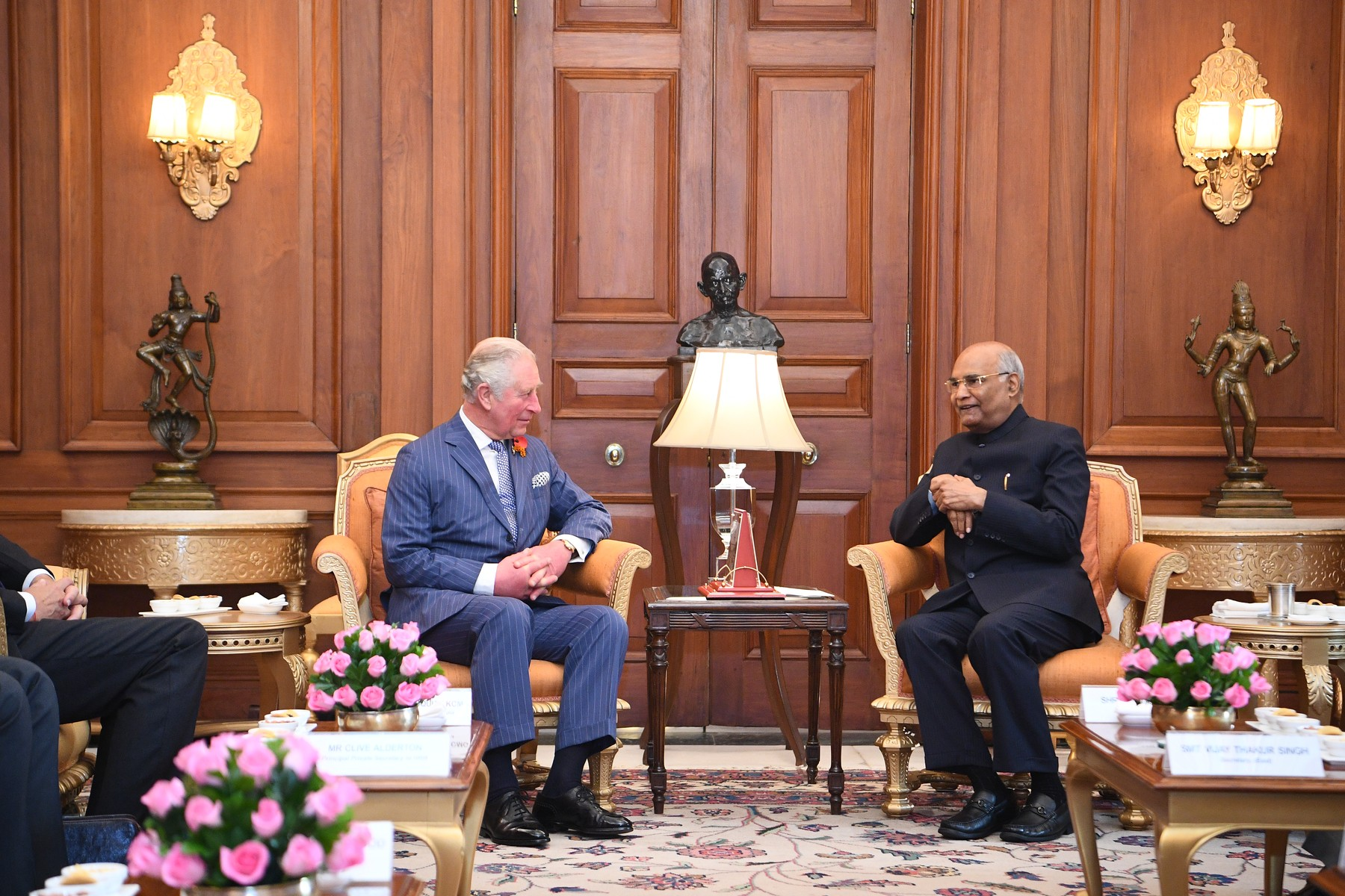 The Prince of Wales meets President Ram Nath Kovind at his official residence, Rashtrapati Bhavan, New Delhi, on day one of the royal visit to India., Image: 482574068, License: Rights-managed, Restrictions: , Model Release: no, Credit line: Victoria Jones / PA Images / Profimedia