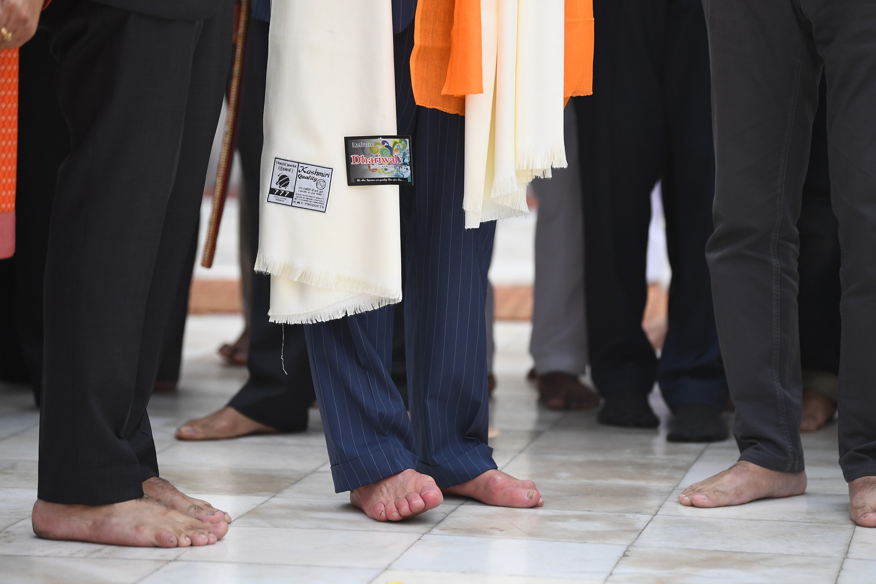 The Prince of Wales' bare feet during his visit to the Bangla Sahib Gurdwara Sikh Temple, New Delhi, to celebrate the 550th anniversary of the birth of Guru Nanak, the founder of Sikhism, on day one of the royal visit to India., Image: 482612457, License: Rights-managed, Restrictions: , Model Release: no, Credit line: Victoria Jones / PA Images / Profimedia
