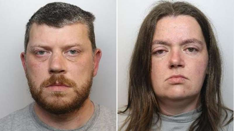 Non Exclusive: ***NO MAIL ONLINE UNLESS AGREED*** A half-brother and sister from Sheffield, engaged in an incestuous relationship, have been given life sentences for murdering their two teenage sons, and a plot to kill their four other children. Sarah Barrass, 35, and Brandon Machin, 39, pleaded guilty to murdering Blake Barrass, 14, and Tristan Barrass, 13, as well as conspiracy to murder four other children under 13.They both received minimum 35-year sentences. The prosecution said Barrass was worried the children were going to be taken into care, where their parentage might be discovered. The pair first tried to poison Barrass' four eldest children using ADHD medication that had been prescribed for some of them. When that failed, the pair strangled and then suffocated Tristan and Blake, the eldest of the six children, on 24 May at their home in the Shiregreen area. They also tried, and failed, to drown another child in the bath. In a police interview, Barrass said she had planned to kill herself afterwards. A visitor to the house told police they had heard Barrass tell her children: