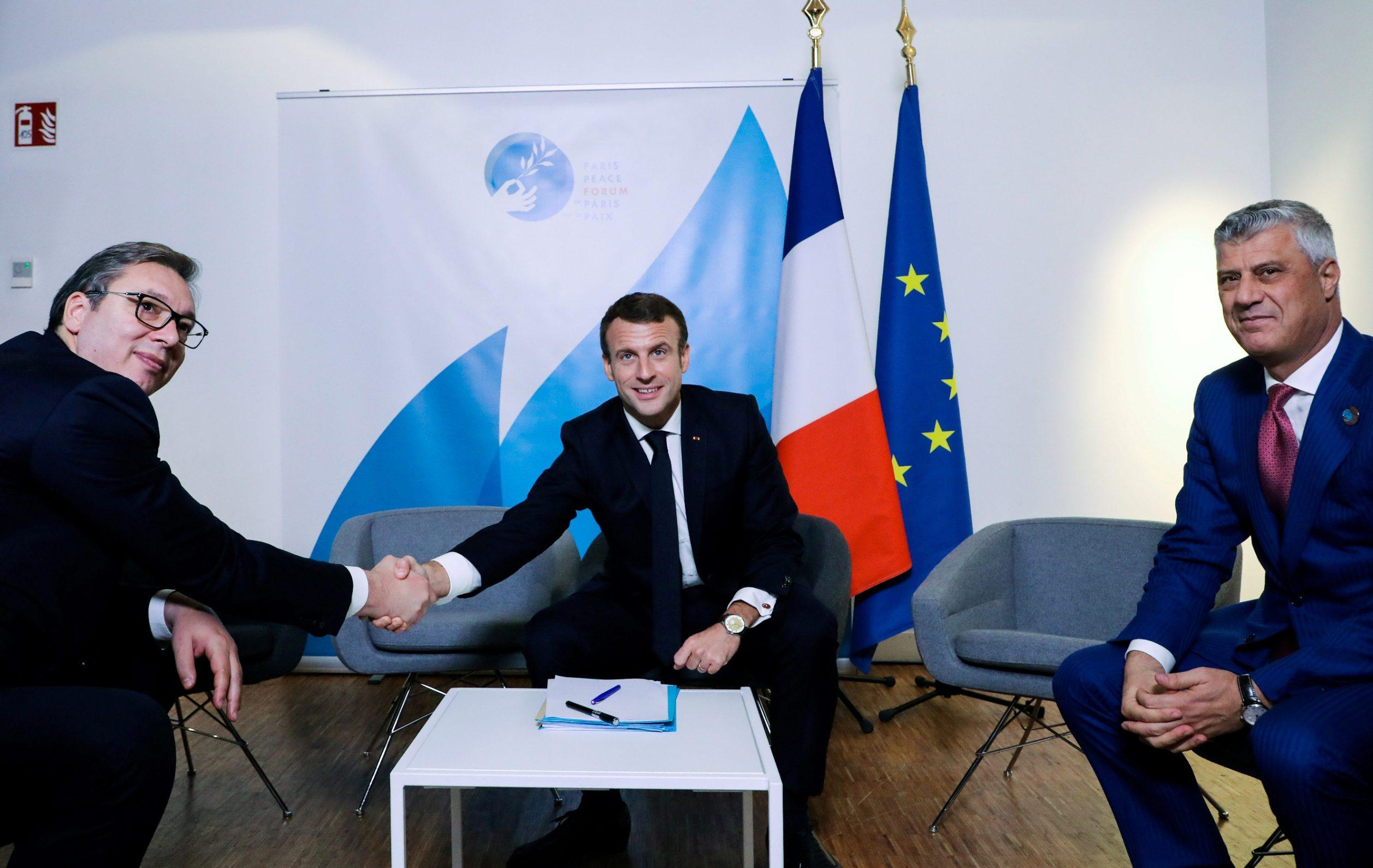 Prošlog je tjedna Emmanuel Macron primio predsjednike Srbije, Aleksandra Vučića i Kosova, Hashima Thacija