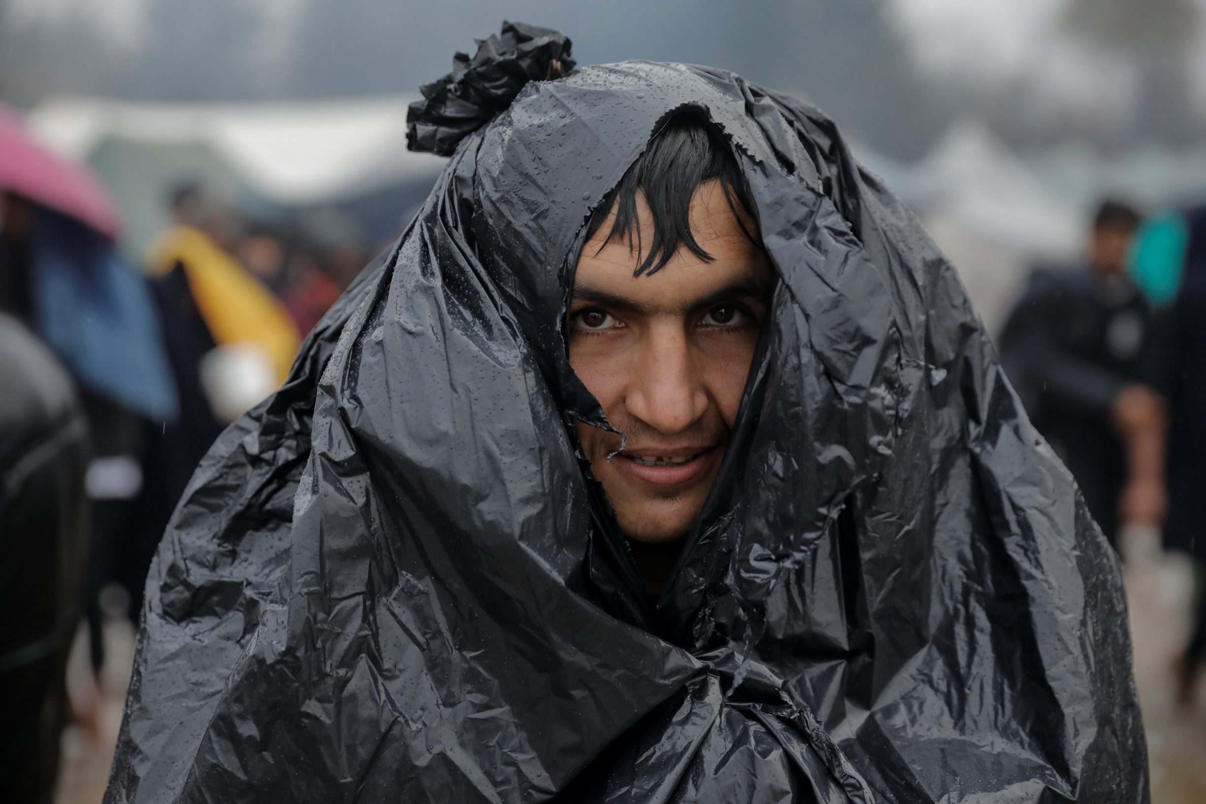A migrant queues for free food inside Vucjak camp near Bihac, Bosnia and Herzegovina, November 13, 2019. Picture taken November 13, 2019. REUTERS/Marko Djurica