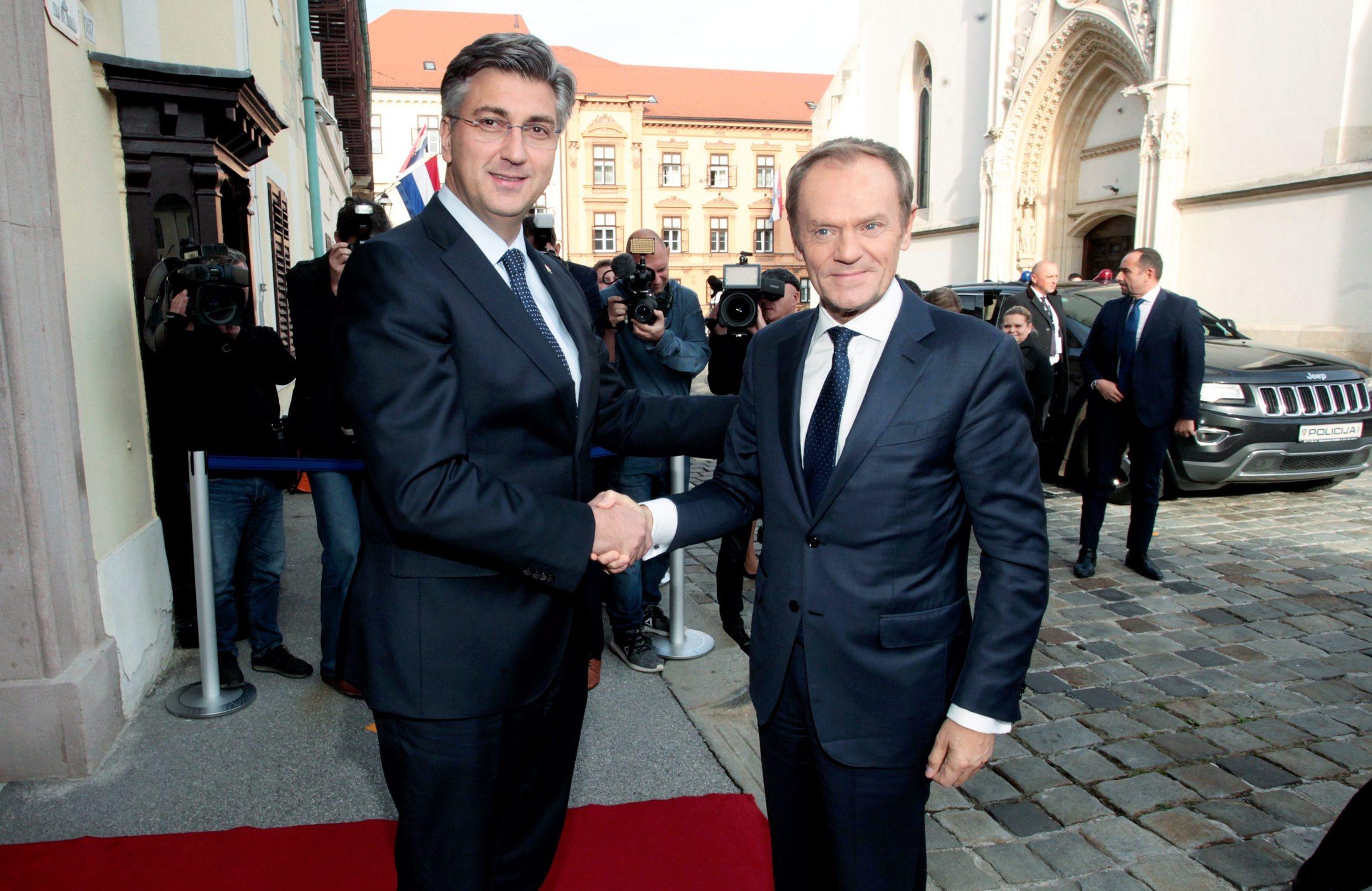 Sastanak predsjednika Vlade Andreja Plenkovića s predsjednikom Europskoga vijeća Donaldom Tuskom