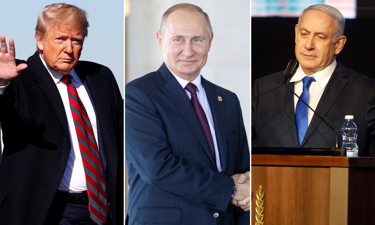 Donald Trump, Vladimir Putin, Benjamin Netanyahu