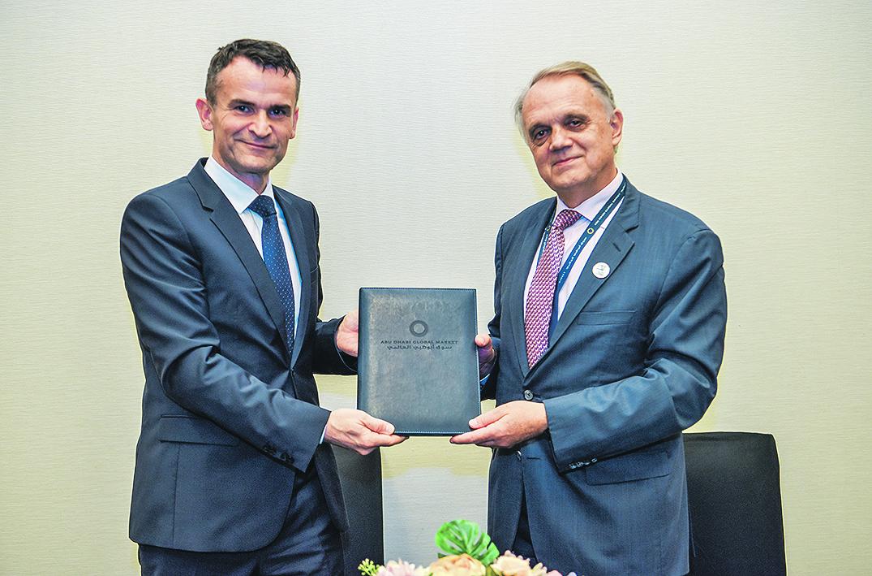 Ante Žigman, predsjednik Upravnog vijeća Hanfe i Philippe Richard, izvršni direktor međunarodnih odnosa u ADGM-u