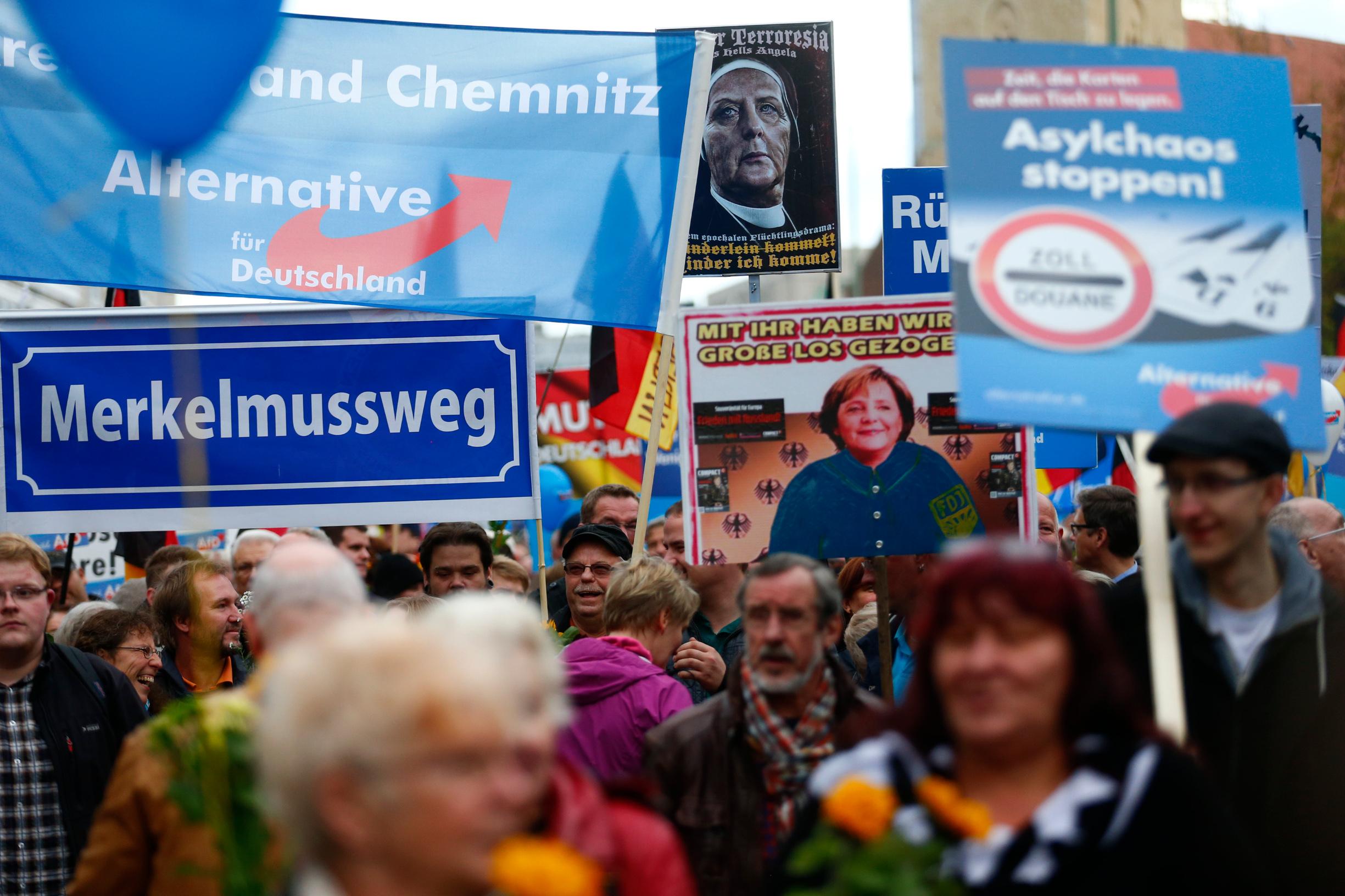 Skup simpatizera AfD-a u Njemačkoj