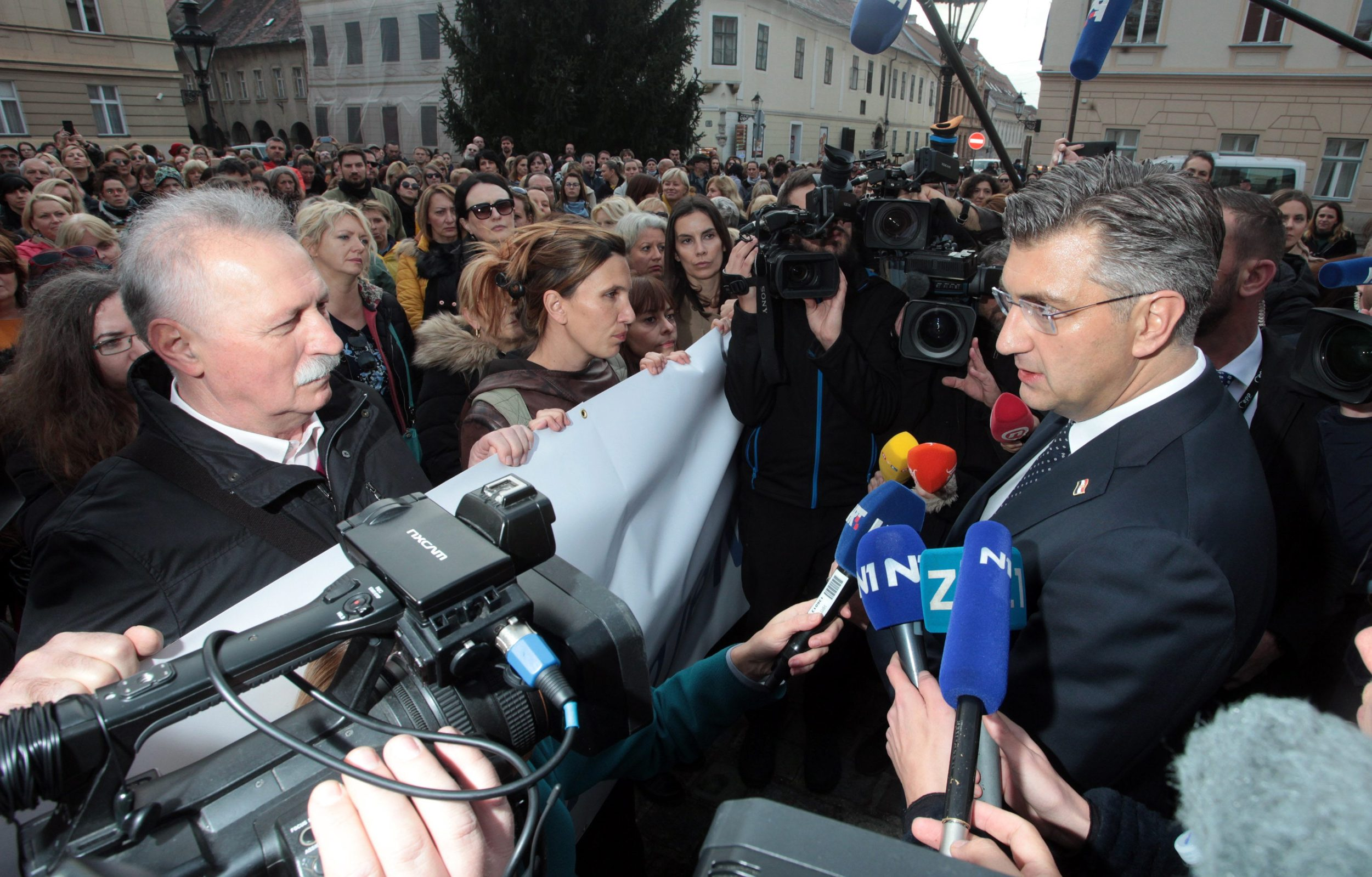 Branimir Mihalinec i Andrej Plenković