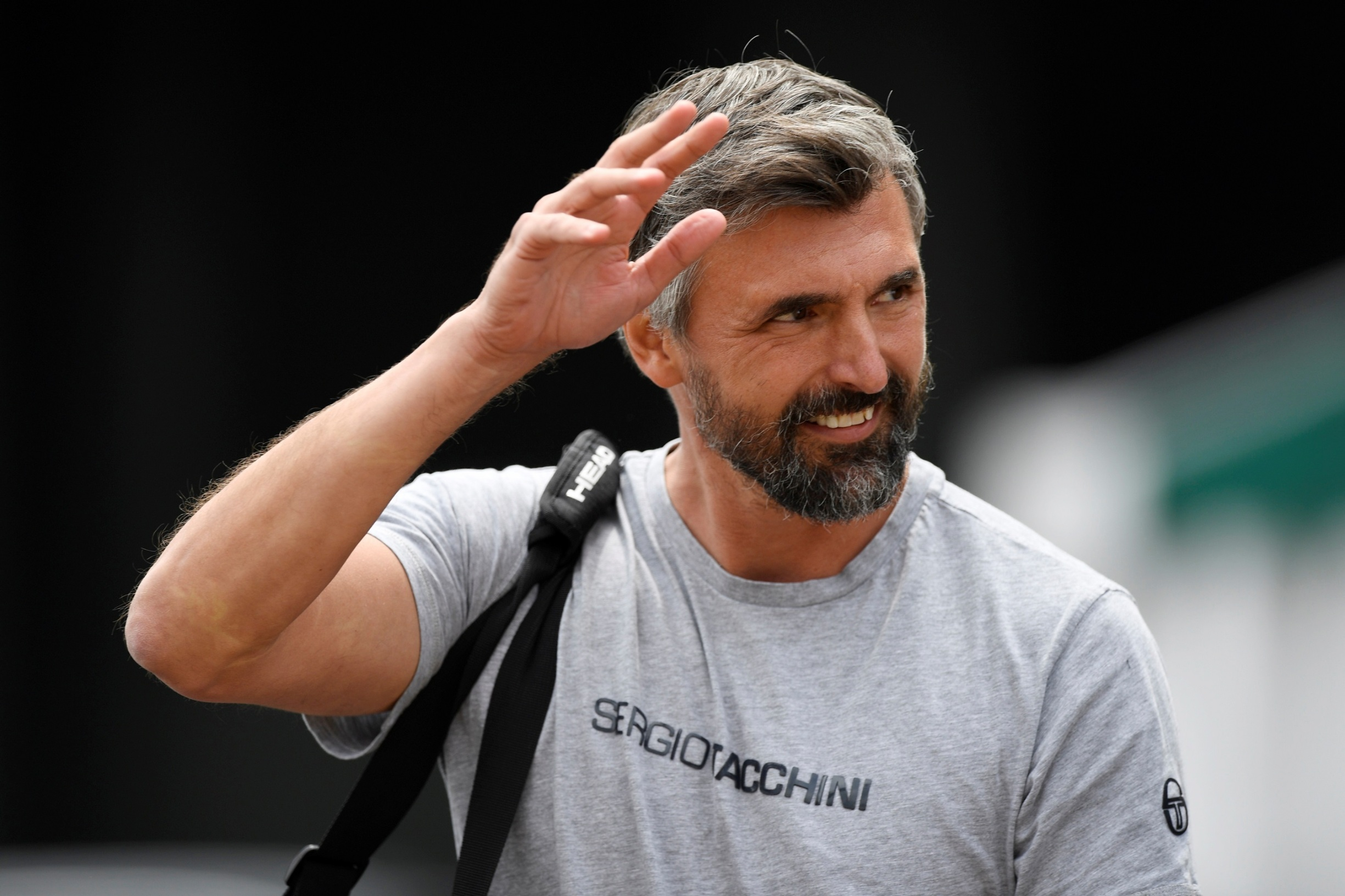 Tennis - Wimbledon - All England Lawn Tennis and Croquet Club, London, Britain - July 7, 2019  Goran Ivanisevic during a practice session  REUTERS/Tony O'Brien - RC1454498910