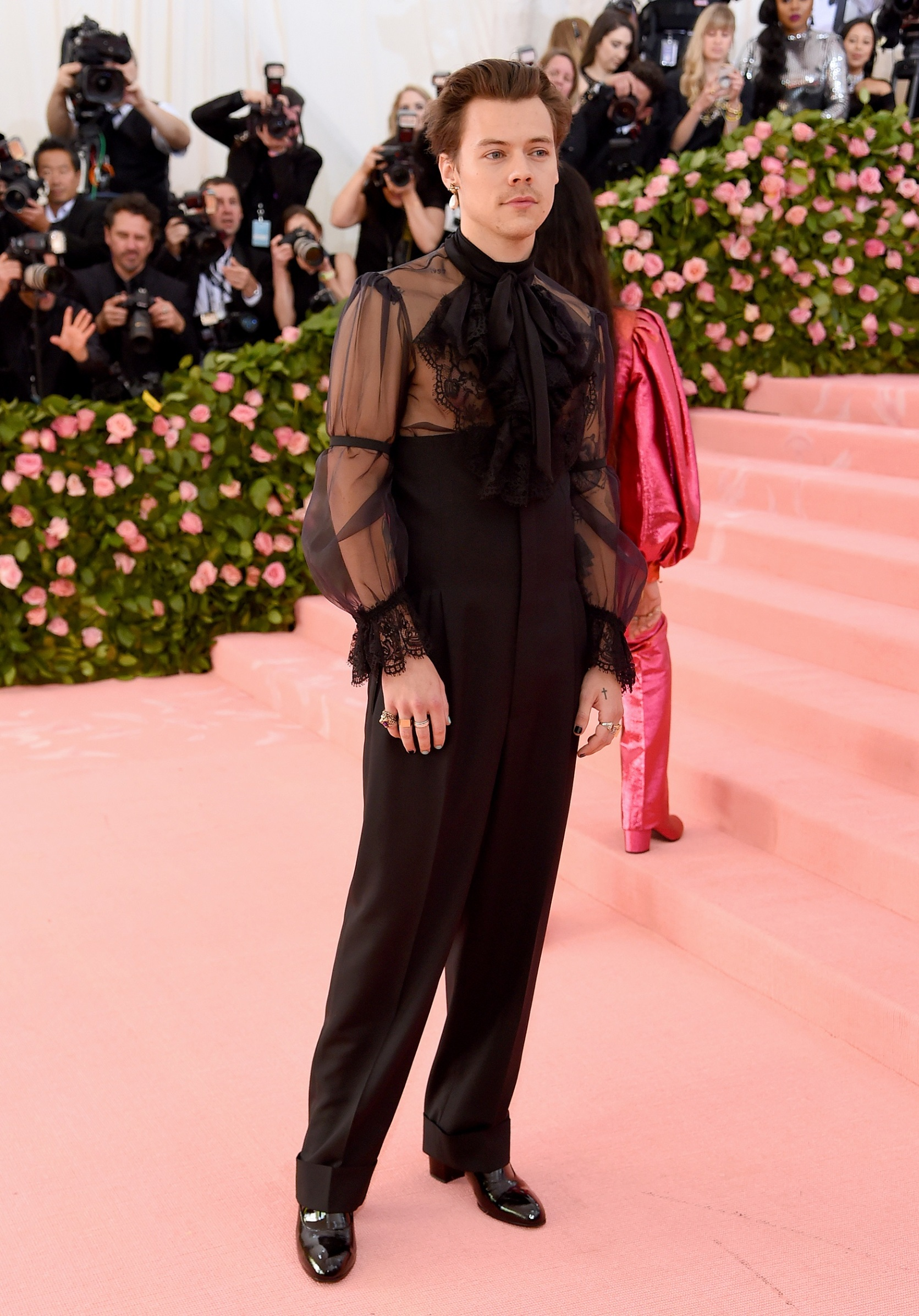 NEW YORK, NEW YORK - MAY 06: Harry Styles attends The 2019 Met Gala Celebrating Camp: Notes on Fashion at Metropolitan Museum of Art on May 06, 2019 in New York City. (Photo by Jamie McCarthy/Getty Images)