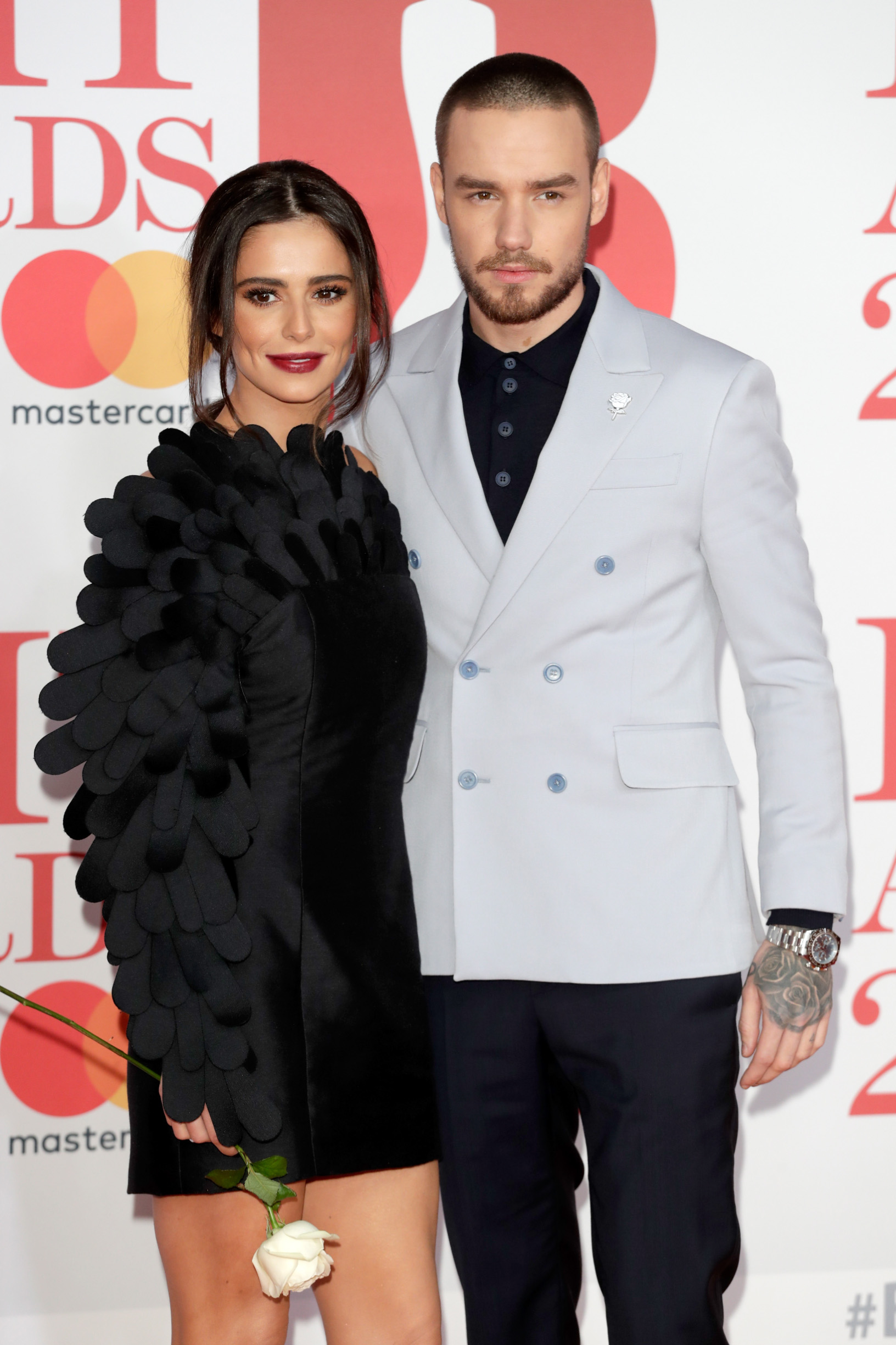 LONDON, ENGLAND - FEBRUARY 21:  *** EDITORIAL USE ONLY IN RELATION TO THE BRIT AWARDS 2018***  Cheryl and Liam Payne attend The BRIT Awards 2018 held at The O2 Arena on February 21, 2018 in London, England.  (Photo by John Phillips/Getty Images)
