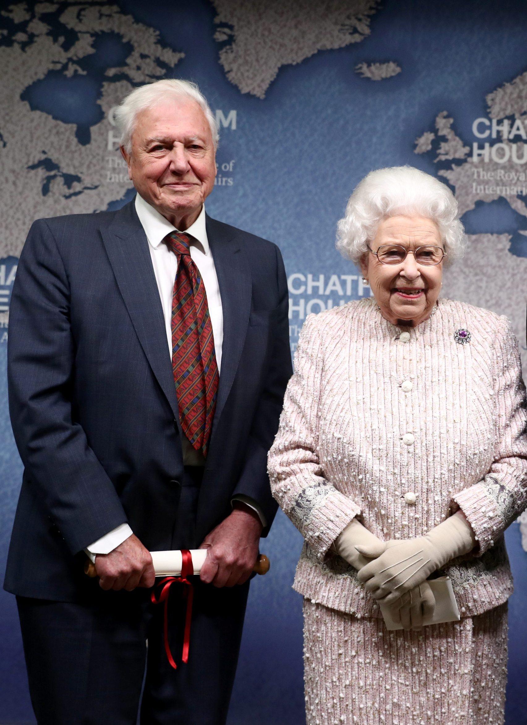 David Attenborough i kraljica Elizabeta II.