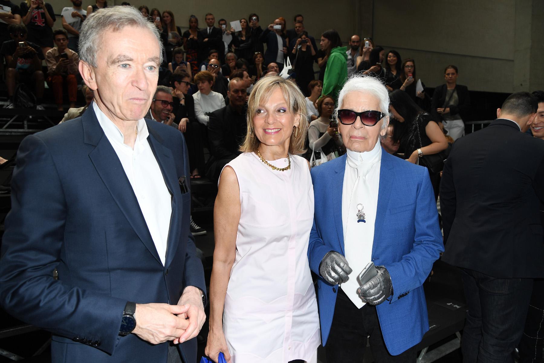 Bernard Arnault, Helene Arnault i Karl Lagerfeld