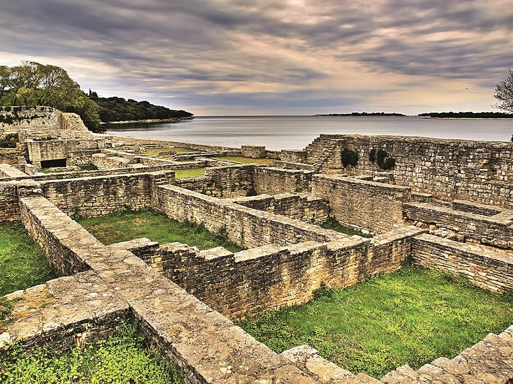 HDR photo of ancient castrum ruins on Brijuni National Park, Croatia.