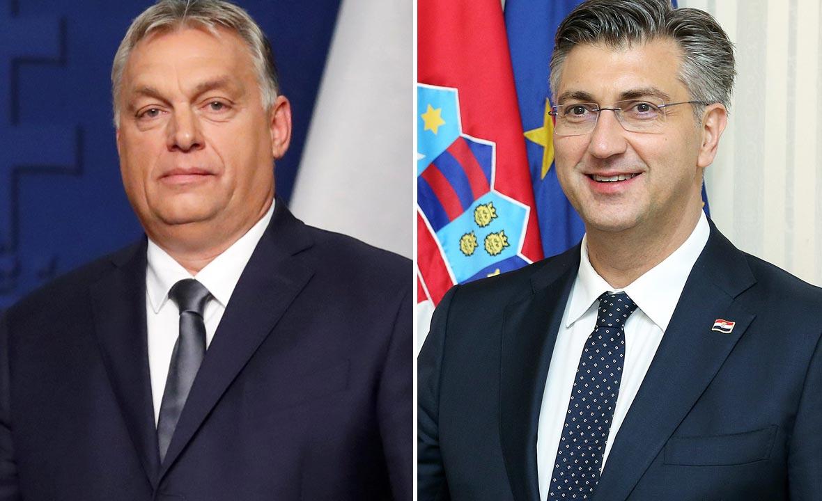 Viktor Orban (lijevo) i Andrej Plenković (desno)