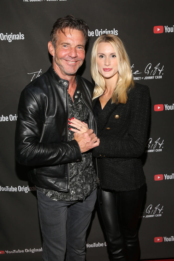 "NASHVILLE, TENNESSEE - NOVEMBER 10: Dennis Quaid and Laura Savoie attend CASH FEST In Celebration Of YouTube Originals Documentary ""THE GIFT: THE JOURNEY OF JOHNNY CASH"" at War Memorial Auditorium on November 10, 2019 in Nashville, Tennessee. (Photo by Terry Wyatt/Getty Images for YouTube)"