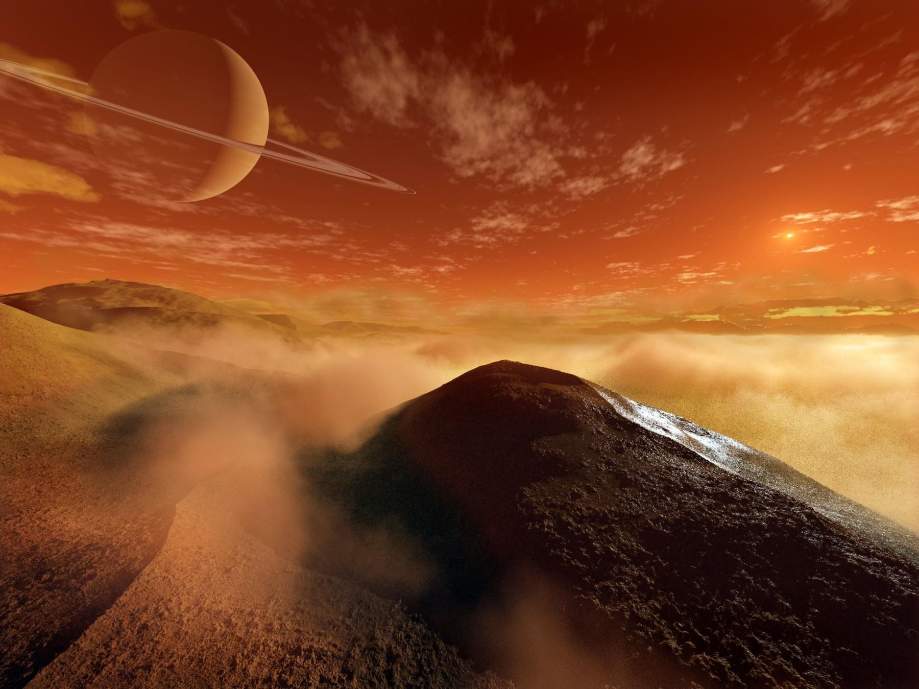 Pogled na Saturn s Titana