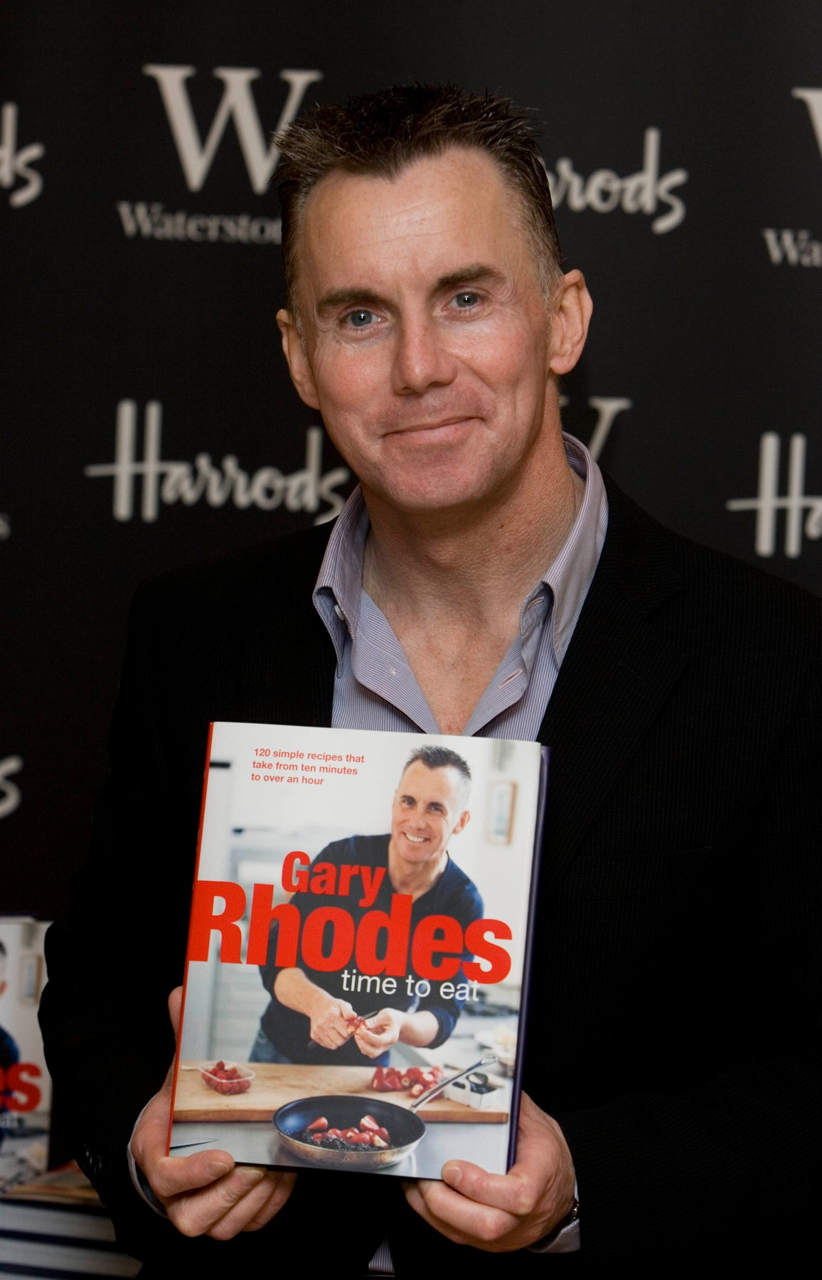 Celebrity chef, Gary Rhodes has passed away at the age of 59 in Dubai where he has lived for the past 8 years. His wife Jennie was by his side. Here stock image: 09/11/2007: TV chef signs Gary Rhodes signs copies of his new book 'Time To Eat' a guide to rustling up perfect meals in a short space of time. Waterstone's Harrods, London., Image: 485092177, License: Rights-managed, Restrictions: , Model Release: no, Credit line: GoffPhotos.com / Goff Photos / Profimedia