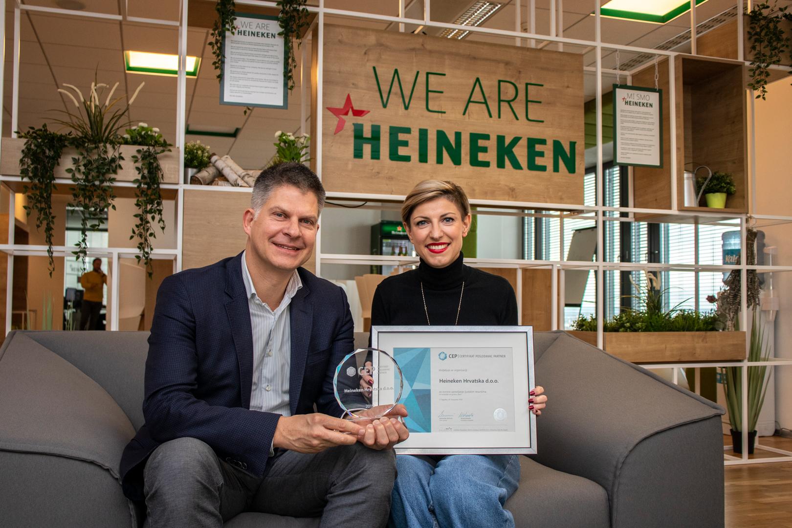 Odin Goedhart, predsjednik Uprave Heineken Hrvatska, i Romina Ivančić, direktorica prodaje u Heineken Hrvatska