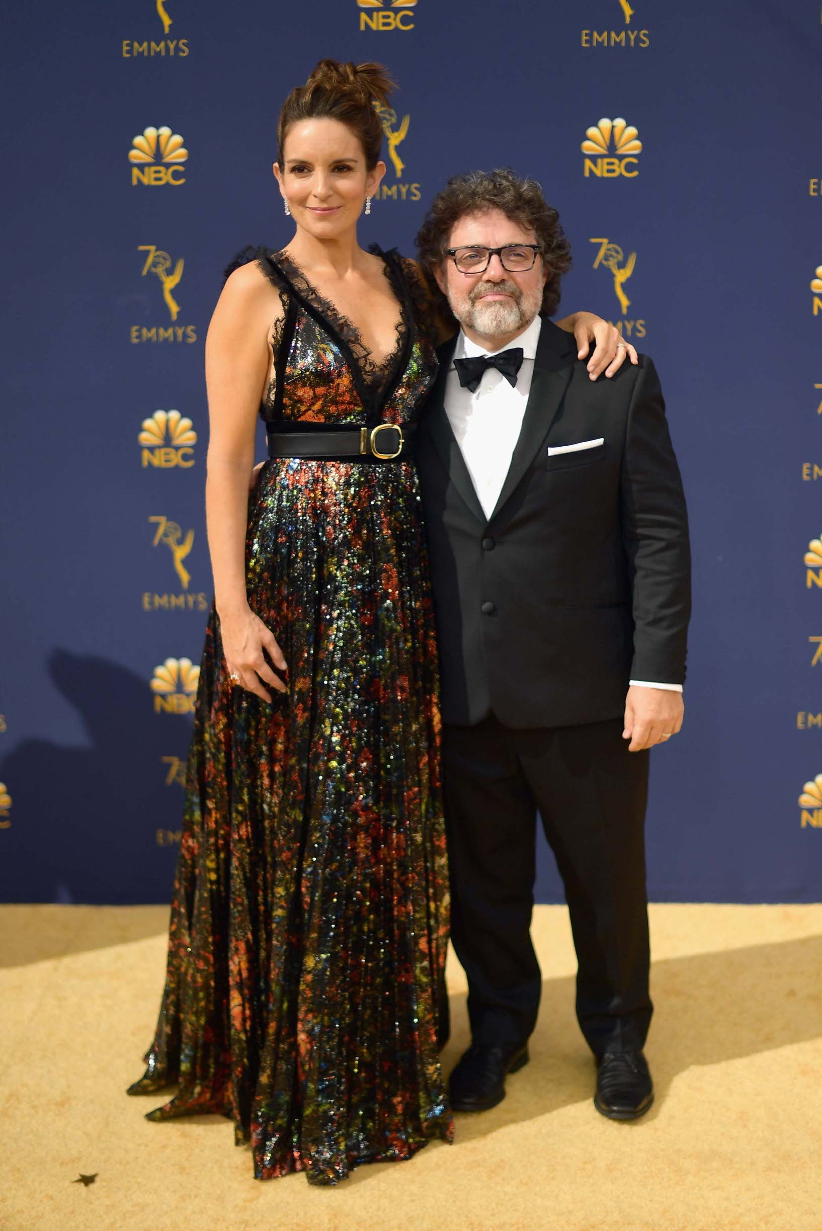 LOS ANGELES, CA - SEPTEMBER 17:  Tina Fey (L) and Jeff Richmond attend the 70th Emmy Awards at Microsoft Theater on September 17, 2018 in Los Angeles, California.  (Photo by Matt Winkelmeyer/Getty Images)