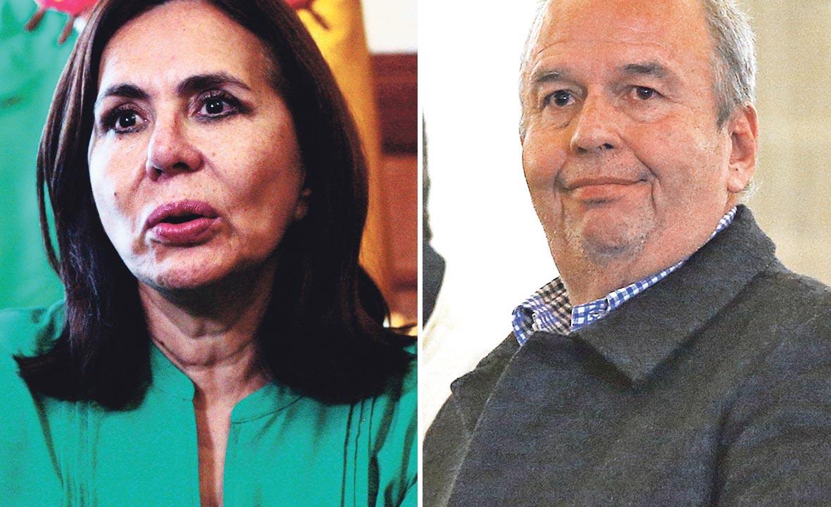 Karen Longaric Rodriguez (lijevo) i Arturo Murillo-Prijic (desno)