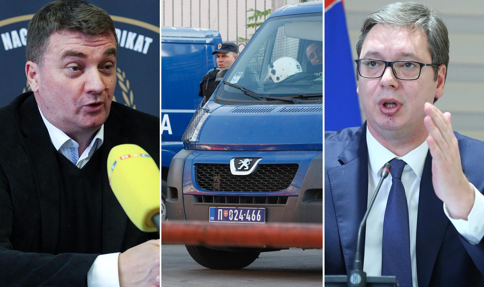Nikola Kajkić, srpska policija, Aleksandar Vučić