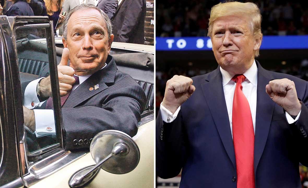 Michael Bloomberg (lijevo) i Donald Trump (desno)