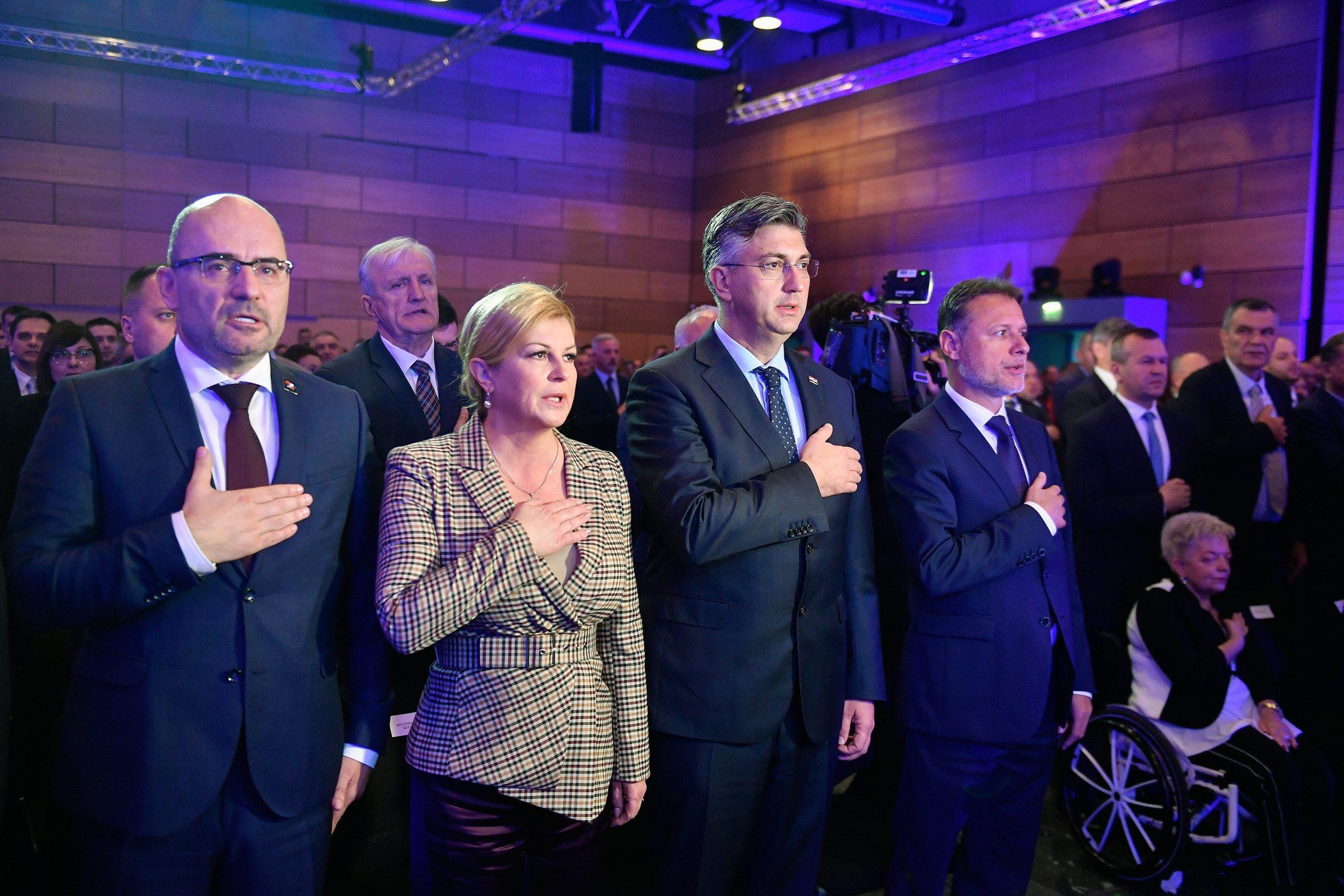 Na fotografiji: Kolinda Grabar-Kitarović, Andrej Plenković, Gordan Jandroković, Milijan Brkić