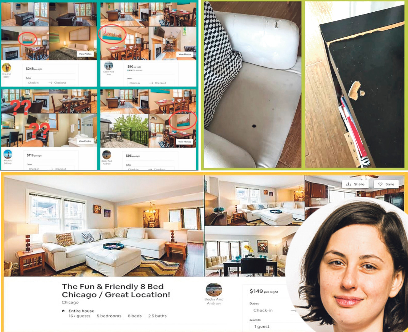 Fotografije apartmana i novinarka Allie Cont u krugu