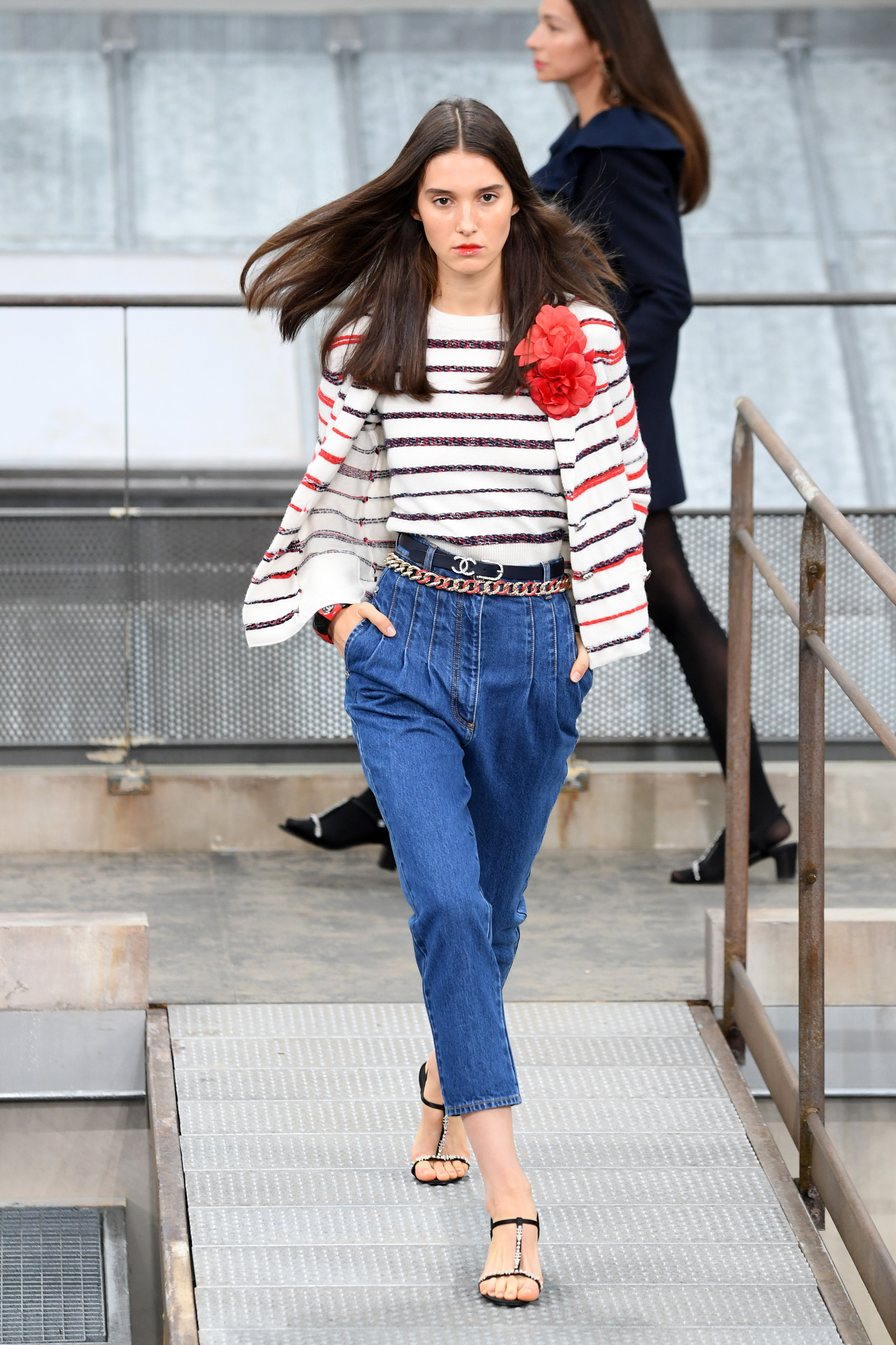 PARIS, FRANCE - OCTOBER 01: A model walks the runway during the Chanel Womenswear Spring/Summer 2020 show as part of Paris Fashion Week on October 01, 2019 in Paris, France. (Photo by Pascal Le Segretain/Getty Images)