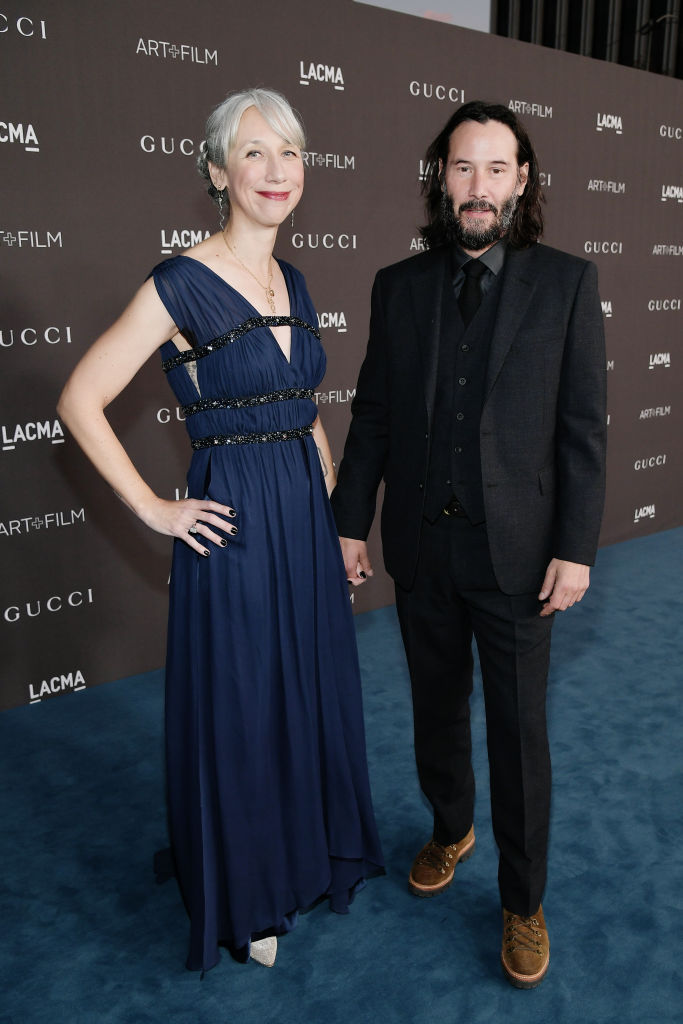 LOS ANGELES, CALIFORNIA - NOVEMBER 02: (L-R) Alexandra Grant and Keanu Reeves attend the 2019 LACMA 2019 Art + Film Gala Presented By Gucci at LACMA on November 02, 2019 in Los Angeles, California. (Photo by Neilson Barnard/Getty Images for LACMA)