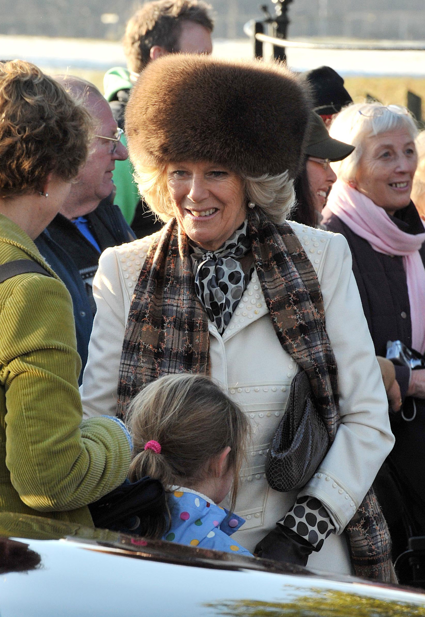 SANDRINGHAM, UNITED KINGDOM - DECEMBER 25:  Camilla, Duchess of Cornwall attends the Christmas Day Church Service with other members of the Royal family, at St Mary's Church on December 25, 2010 in Sandringham, England.  (Photo by Louis Wood - WPA Pool/ Getty Images)