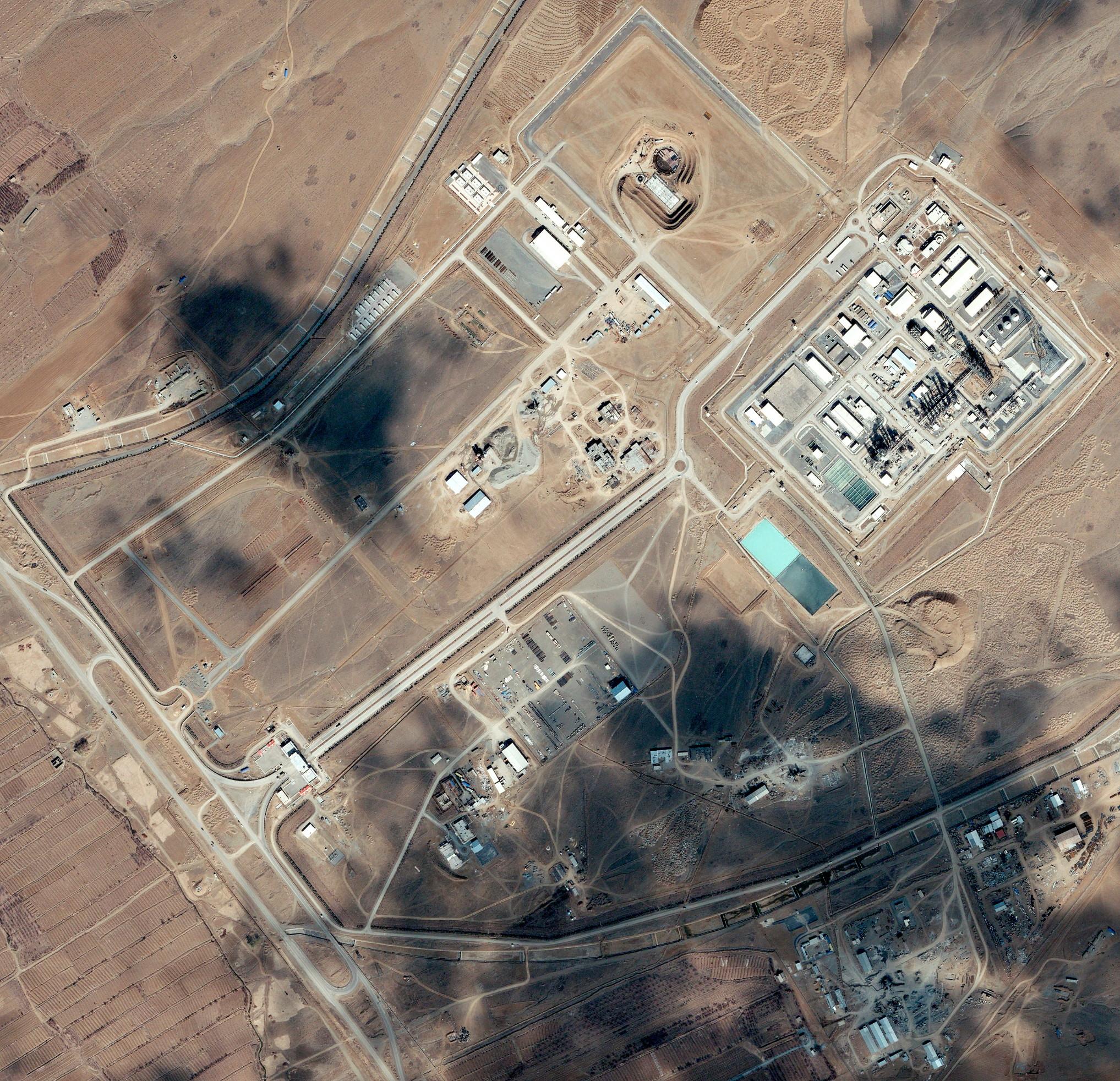 Arihvska fotografija postrojenja u Iranu u kojem se gradio nuklearni reaktor