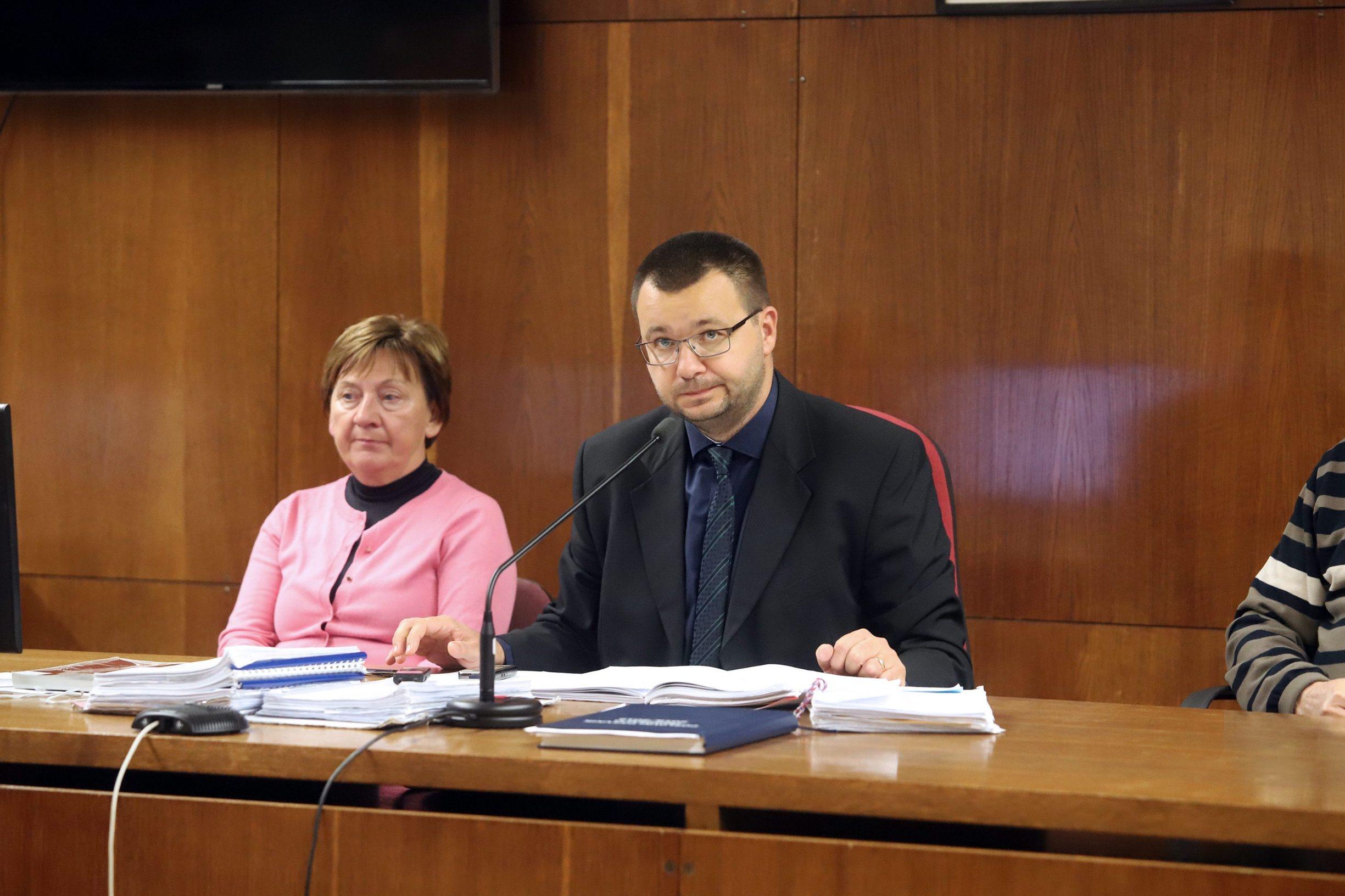 Varazdin, 071119. Na Zupanijskom sudu nastavljeno je sudjenje Smiljani Srnec za ubojstvo sestre Jasmine Dominic. Na fotografiji: sudac Tomislav Brdjanovic. Foto: Zeljko Hajdinjak / CROPIX