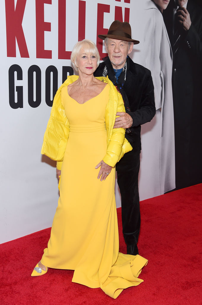 NEW YORK, NEW YORK - NOVEMBER 06: Helen Mirren and Ian McKellen attend