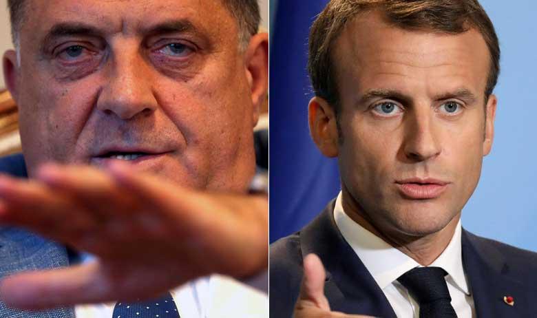 Milorad Dodik i Emmanuel Macron
