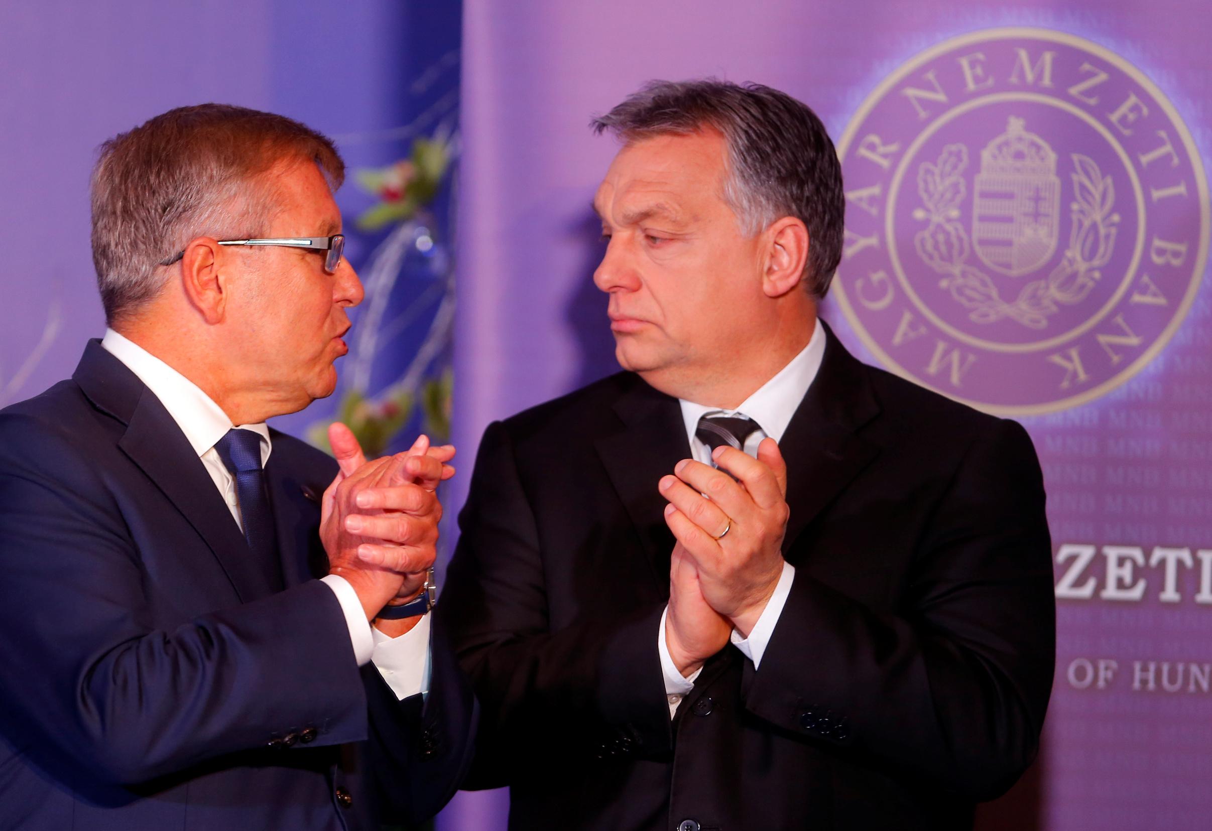 Gyorgy Matolcsy, guverner Mađarske centralne banke, i Viktor Orbán, predsjednik mađarske Vlade