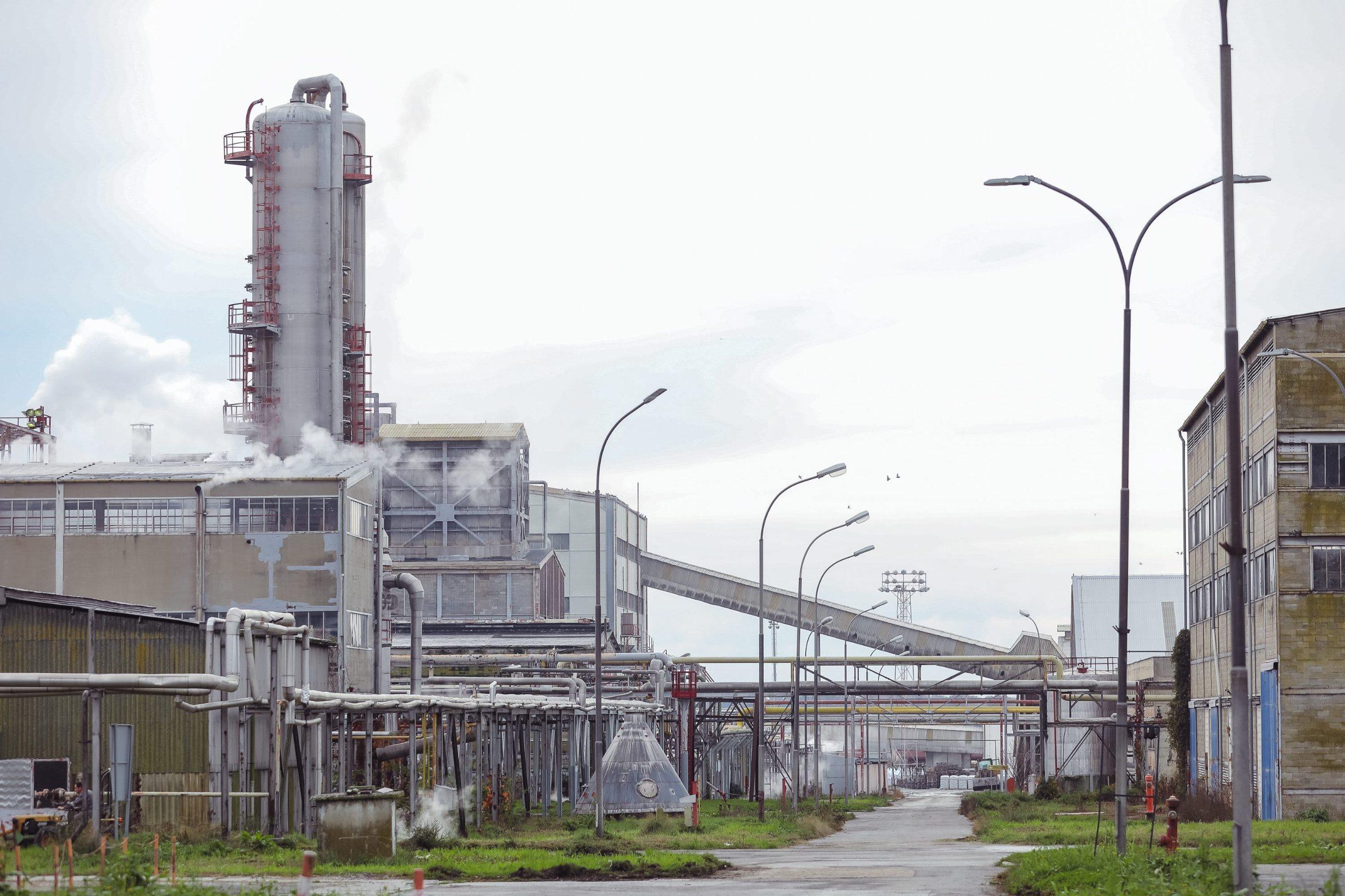 Kutina, 061119. Petrokemija Kutina, najveca tvornica mineralnih gnojiva u Hrvatskoj.  Na fotografiji: tvornica.  Foto: Marko Todorov / CROPIX