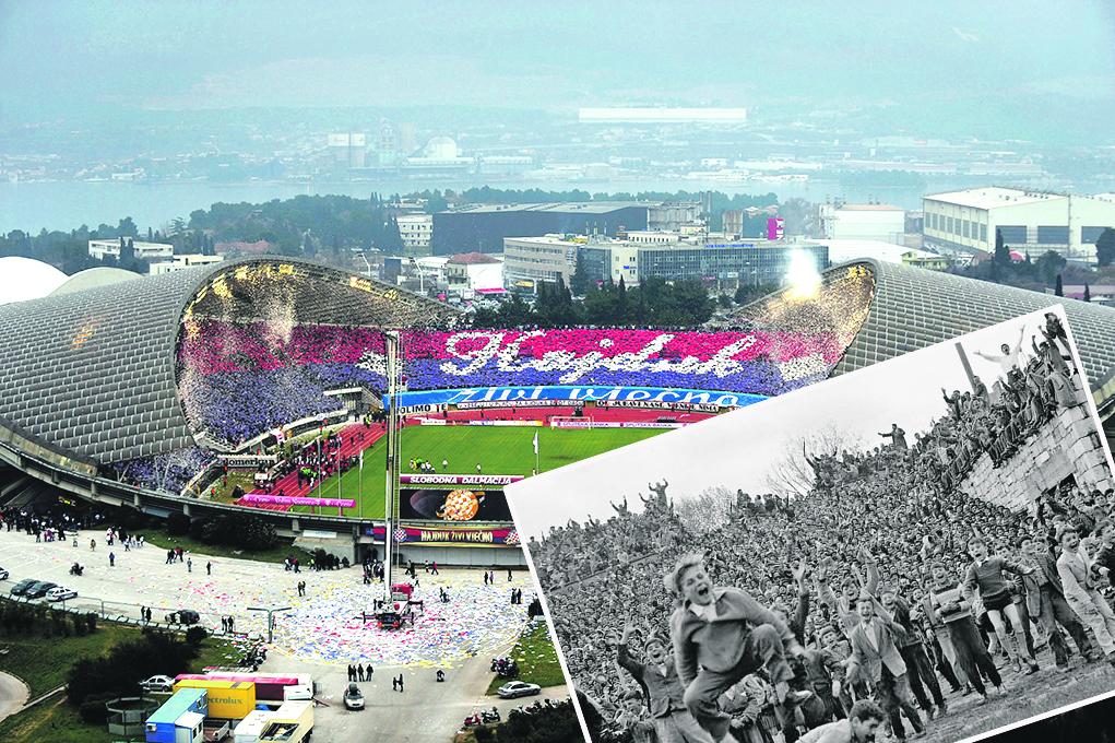 Arhivska fotografija iz utakmice Hajduka i Crvene zvezde 1950., veča fotogrfija - Poljud