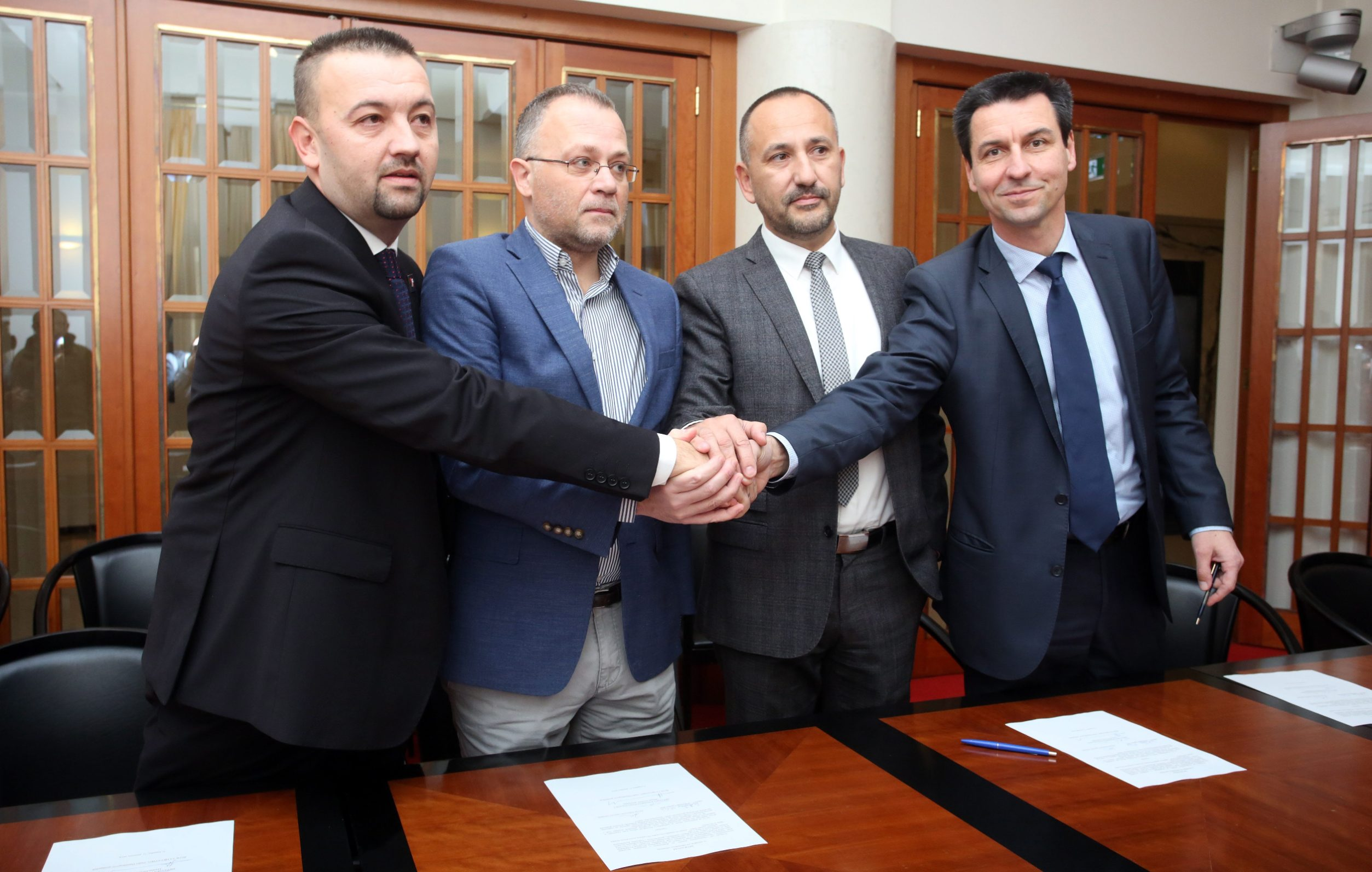 Hrvoje Zekanović, Zlatko Hasanbegović, Marjan Paliček i Ladislav Ilčić