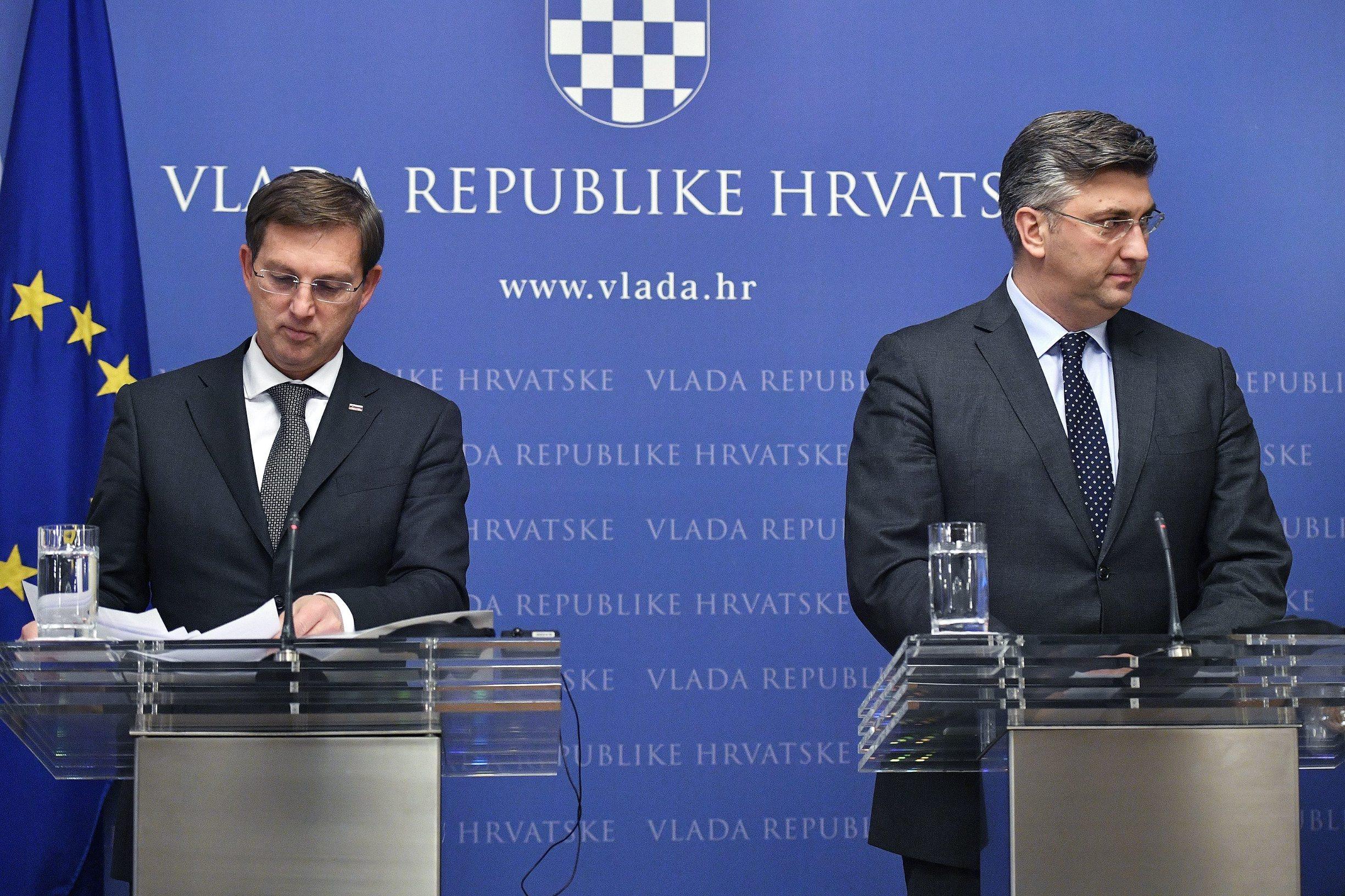 Slovenski ministar vanjskih poslova Miro Cerar s hrvatskim premijerom Andrejem Plenkovićem