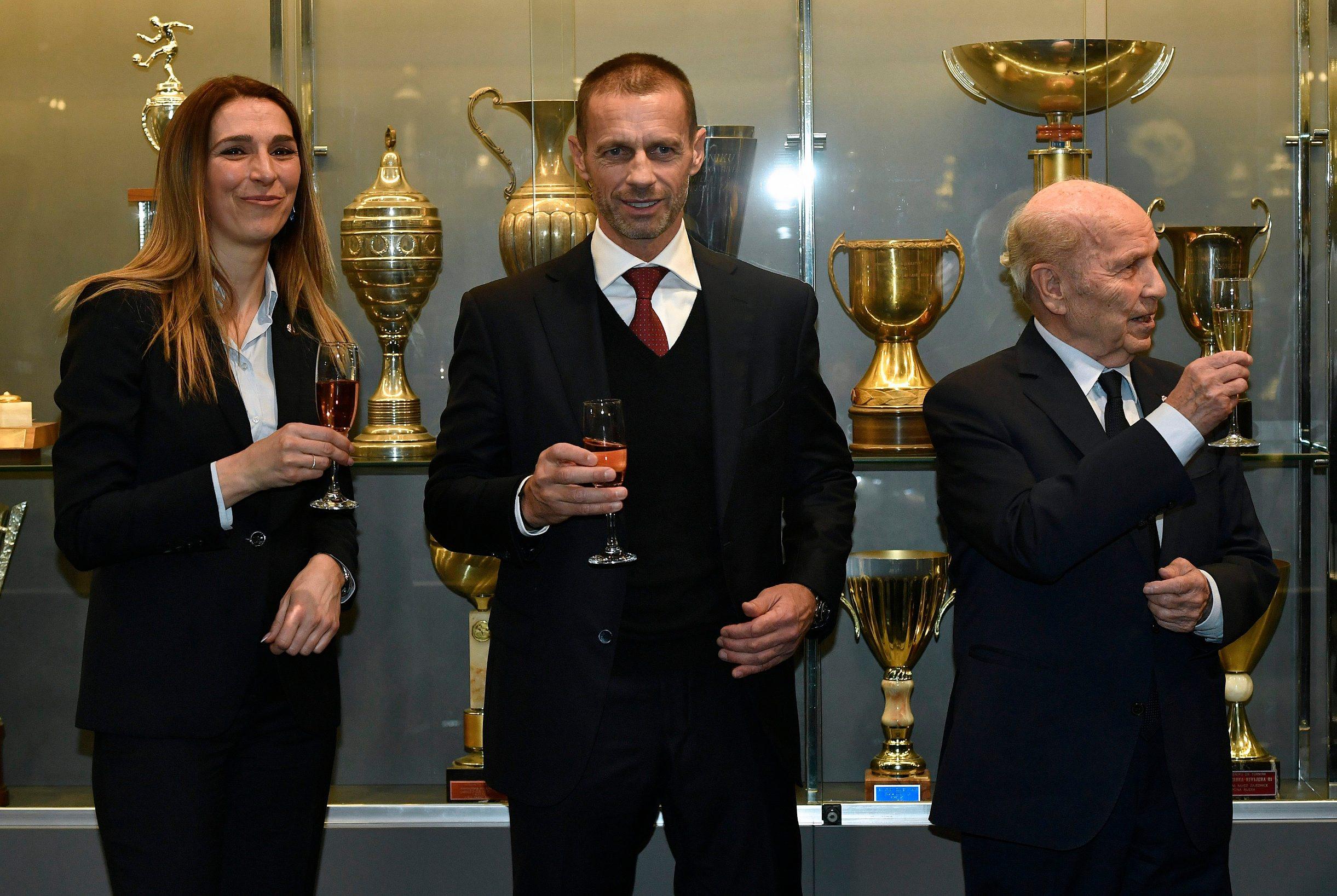 Predsjednik UEFA-e u Dinamovim salonima uoči dvoboja protiv Manchester Cityja